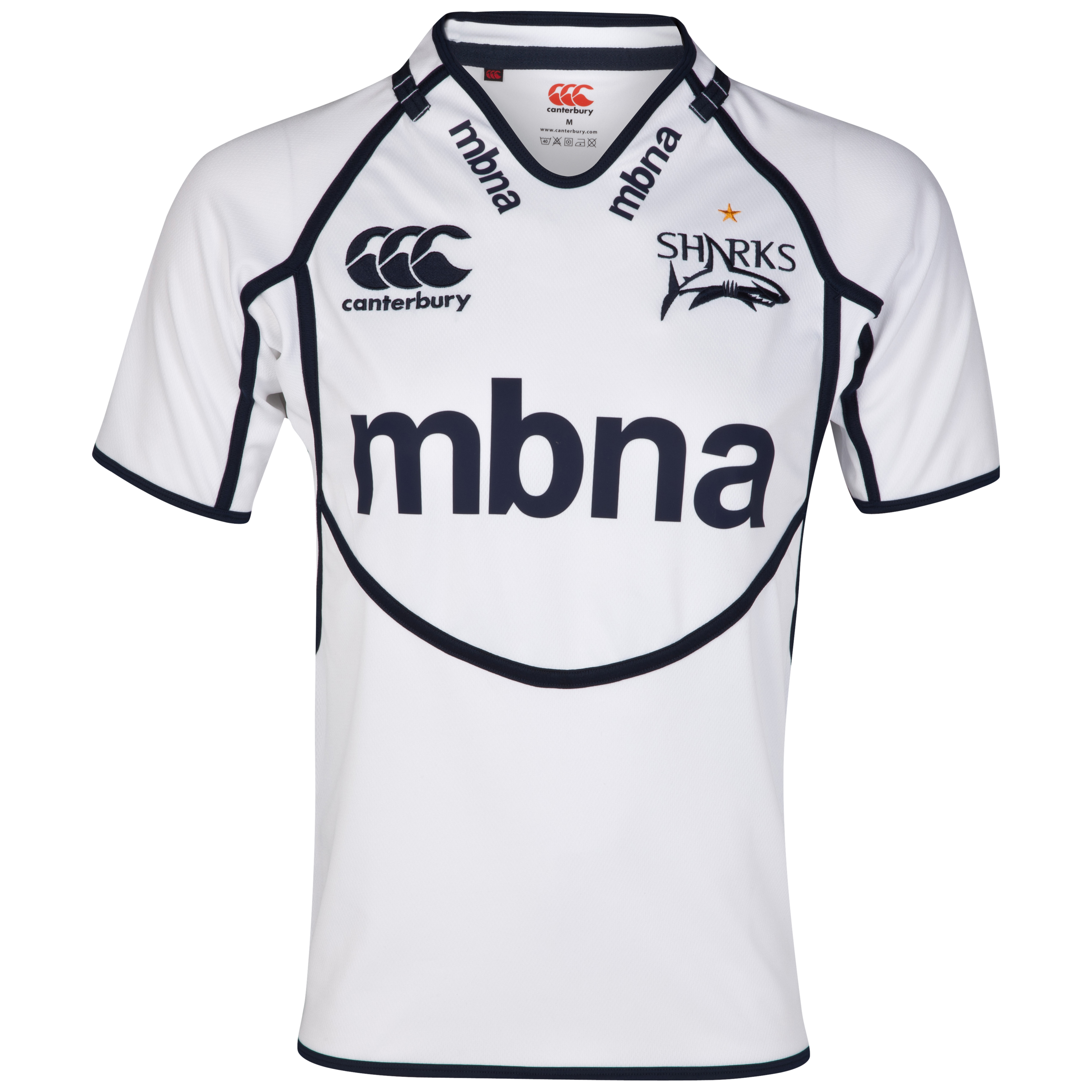 Sale Sharks Alternative Pro Shirt - White/Navy