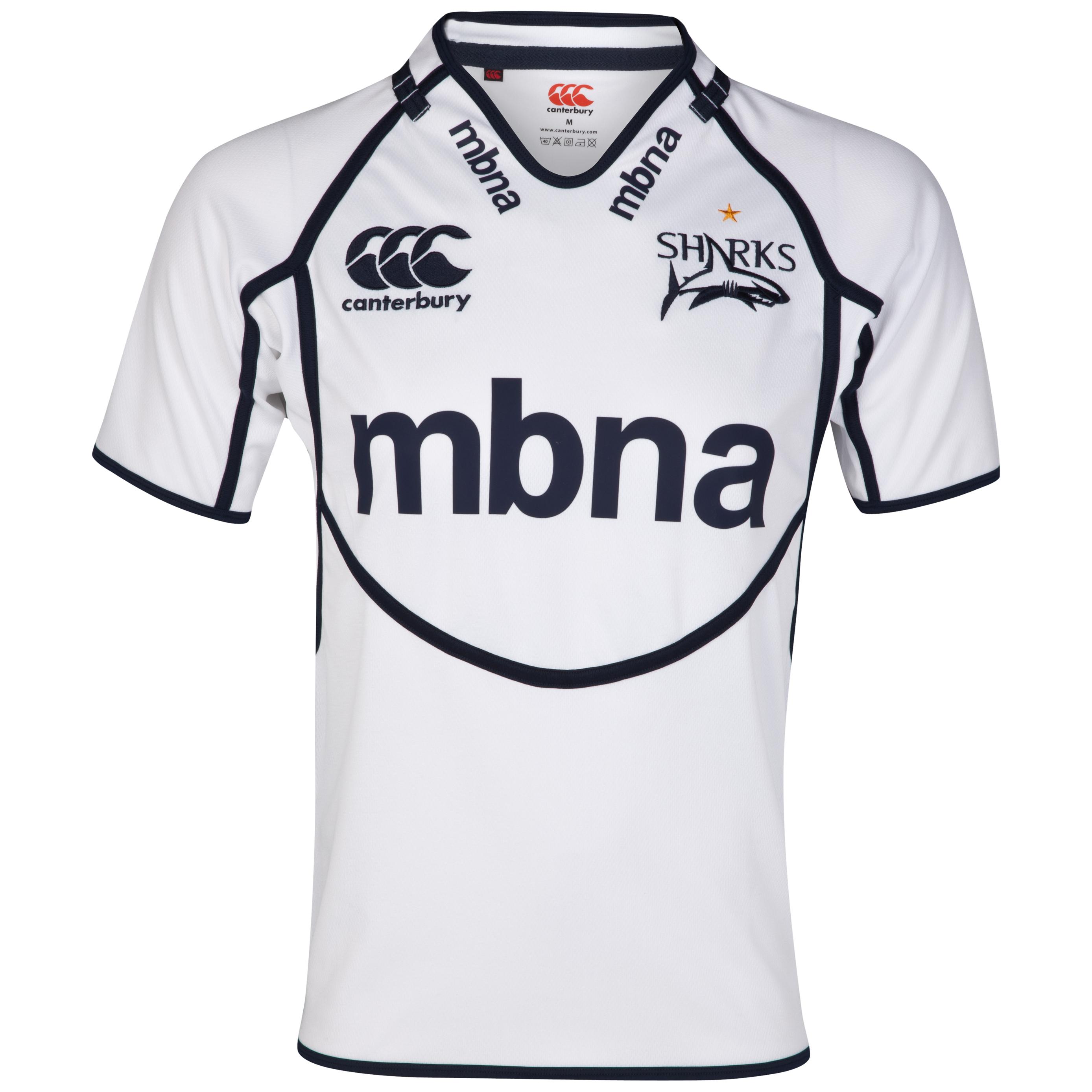 Sale Sharks Alternative Pro Shirt - White/Navy