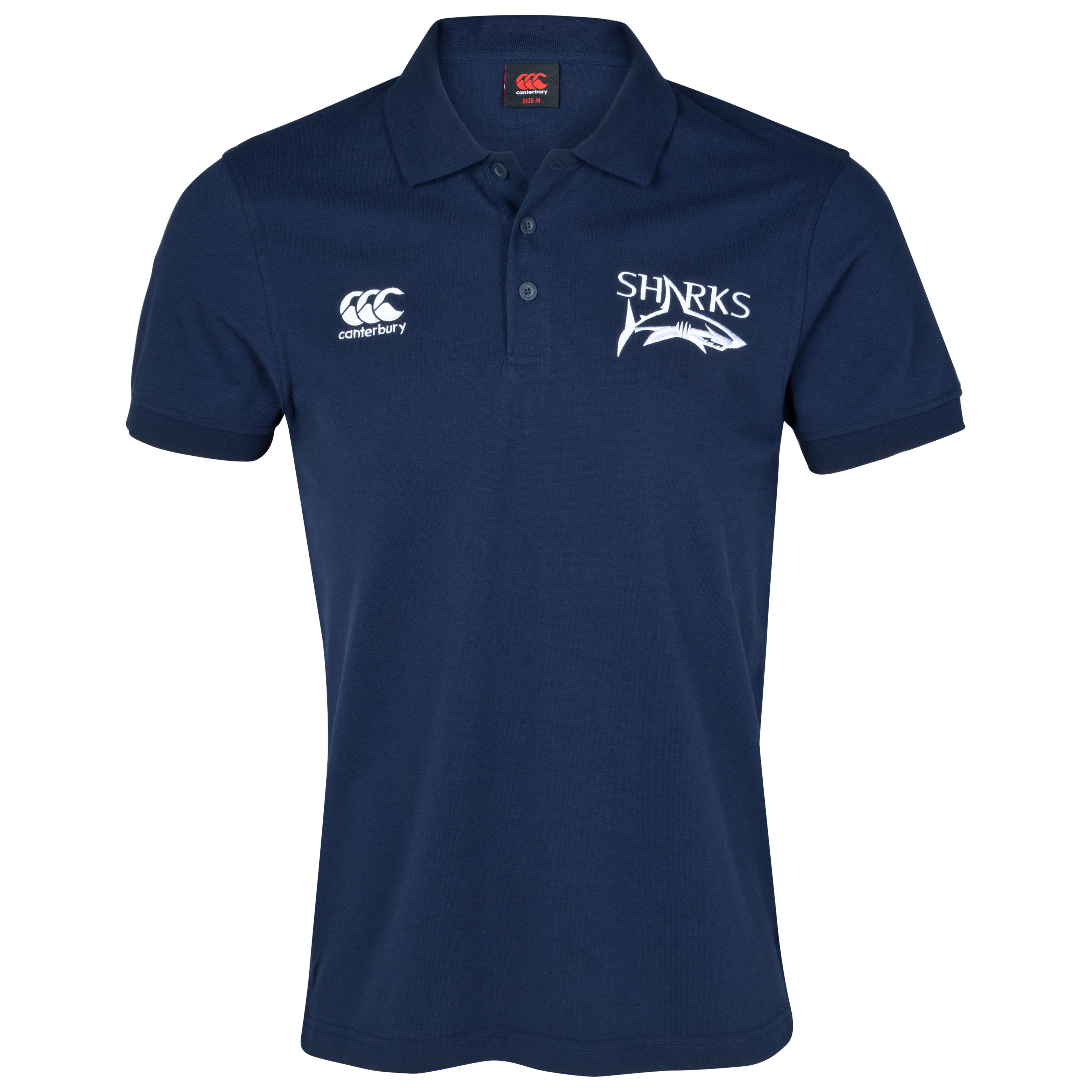 Sale Sharks Cotton Pique Polo - Navy