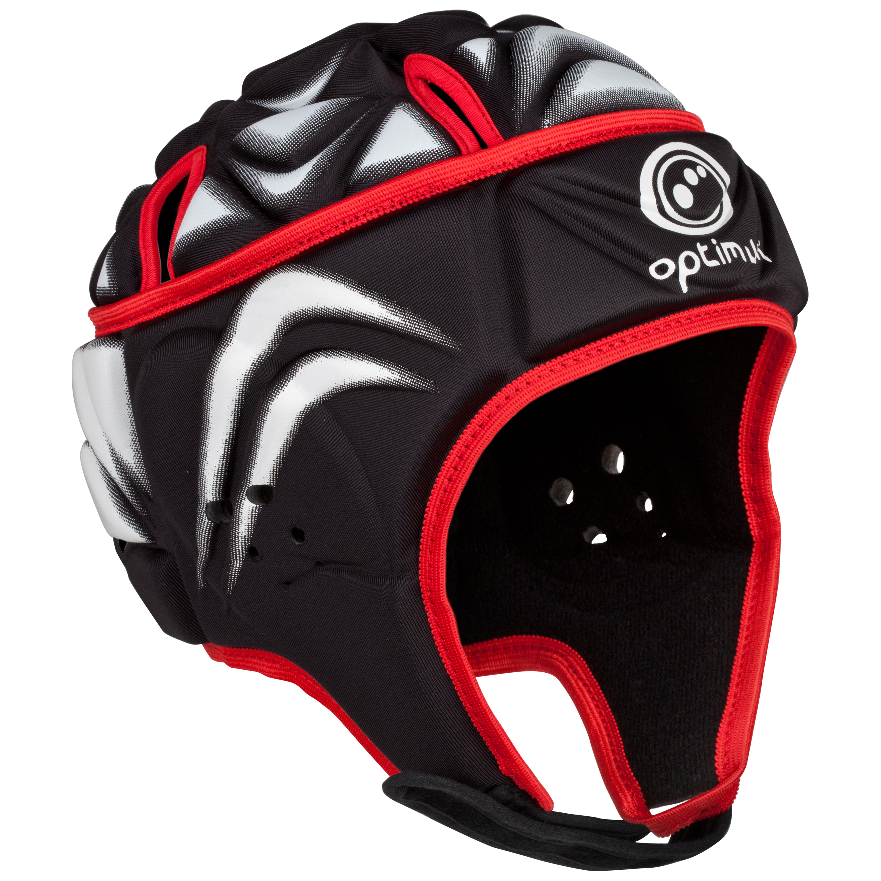 Optimum Rugby Blitz Extreme Headguard - Black/Red