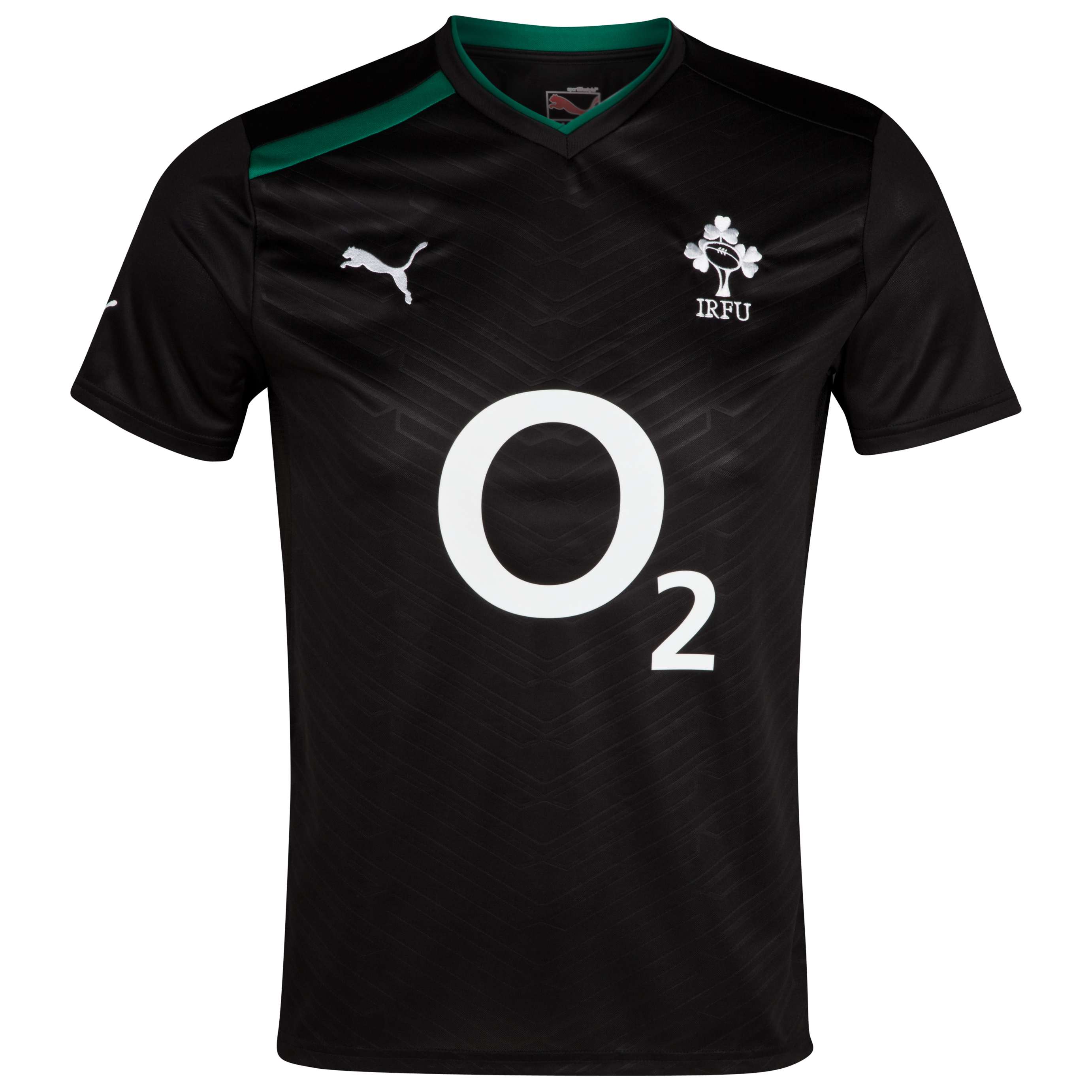 Ireland Rugby Workout T-Shirt - Black/Green