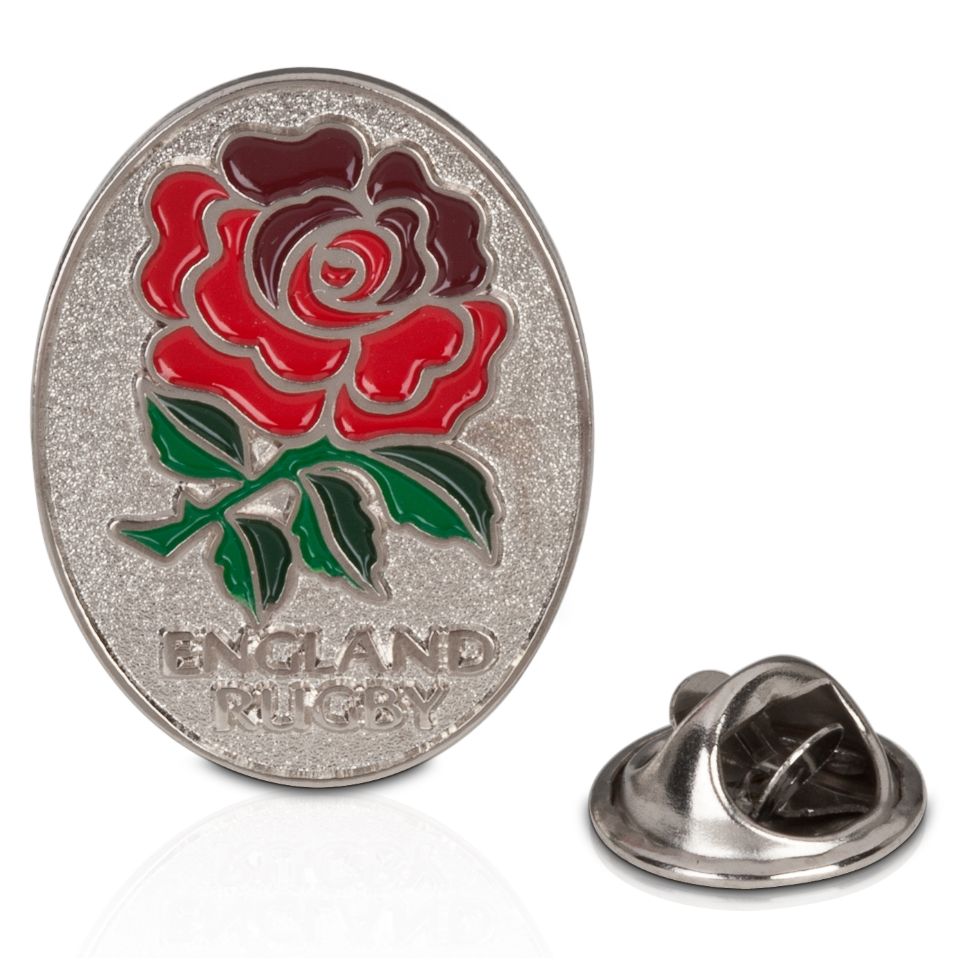 England Rugby Oval Rose Pin Badge