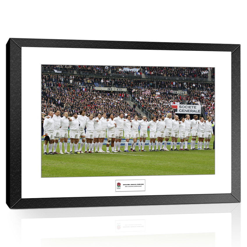England Rugby National Anthem Line Up vs France 2012 6 Nations Championship Framed Print