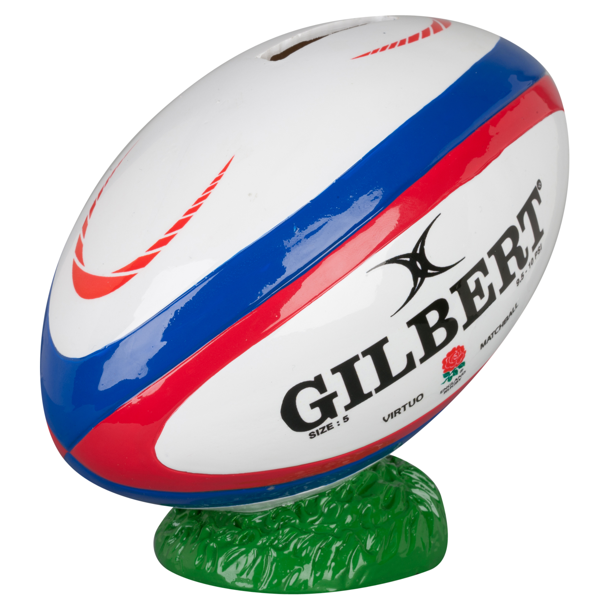 England Rugby Gilbert Rugby Ball Money Box