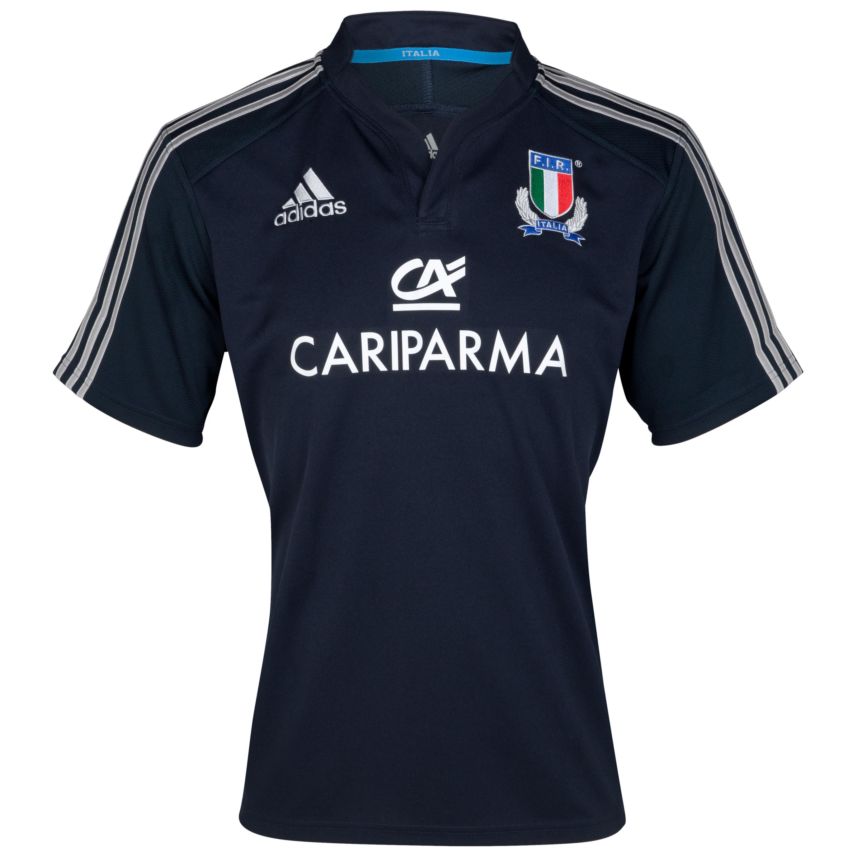 Italy Rugby Training Jersey - Dark Navy/Platinum