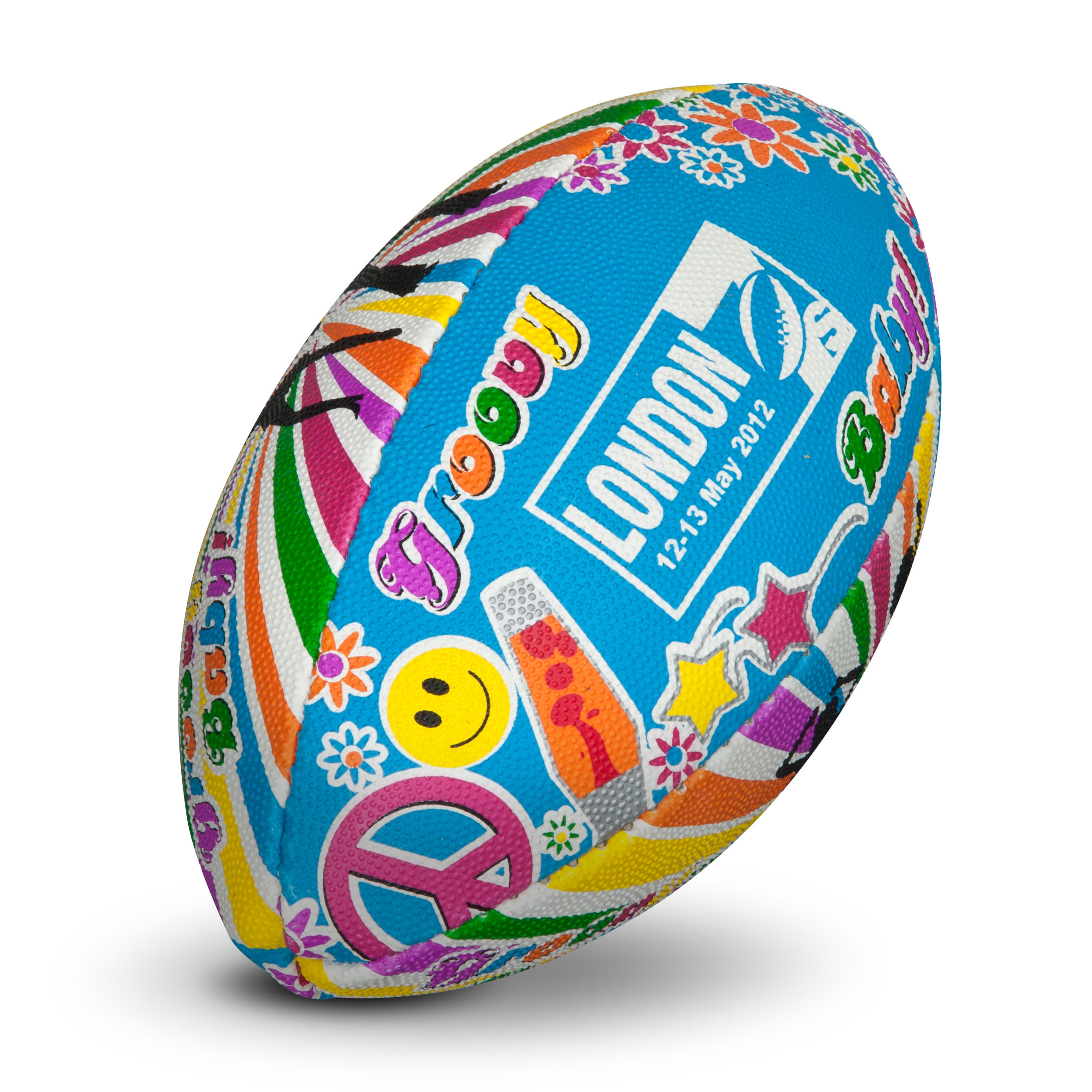 London 7's Tournament 70s Rugby Ball - Mini Ball. for 8€