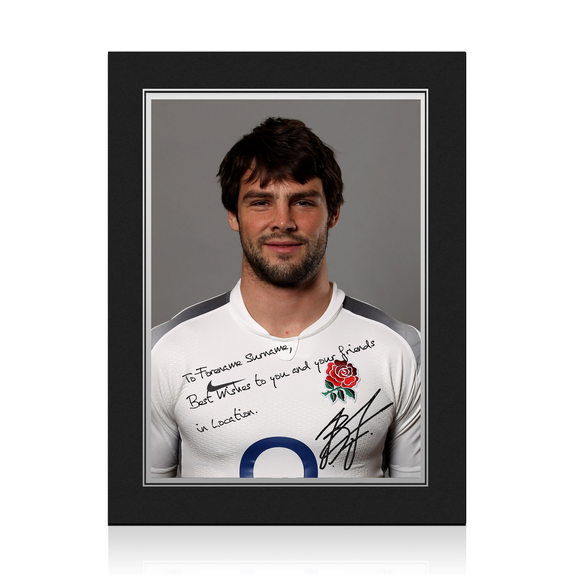 England Rugby Personalised Signature Print in Presentation Folder - Foden