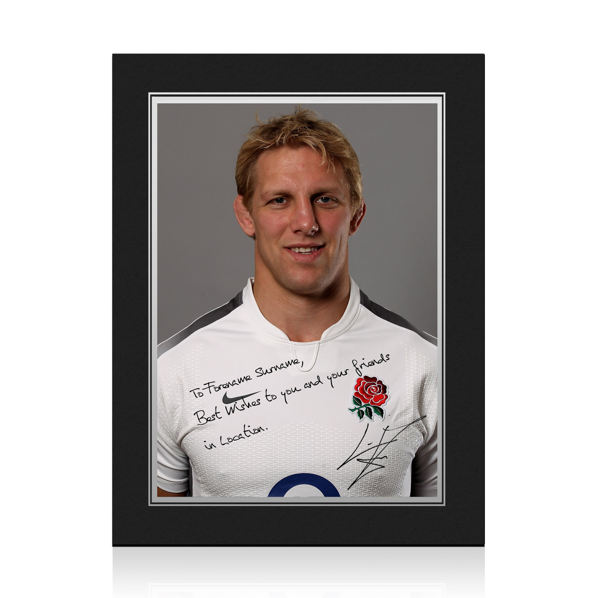 England Rugby Personalised Signature Print in Presentation Folder - Moody