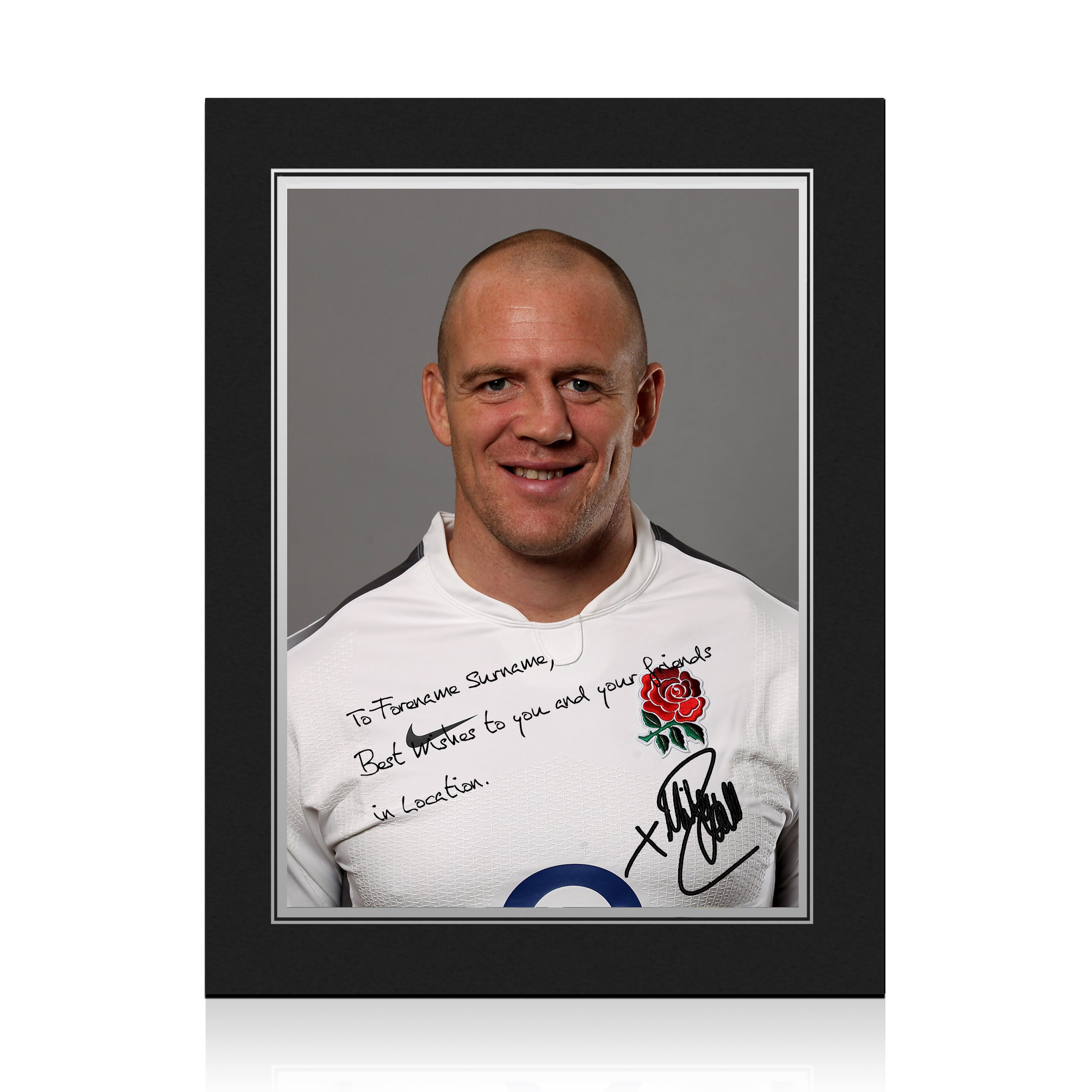 England Rugby Personalised Signature Print in Presentation Folder - Tindall