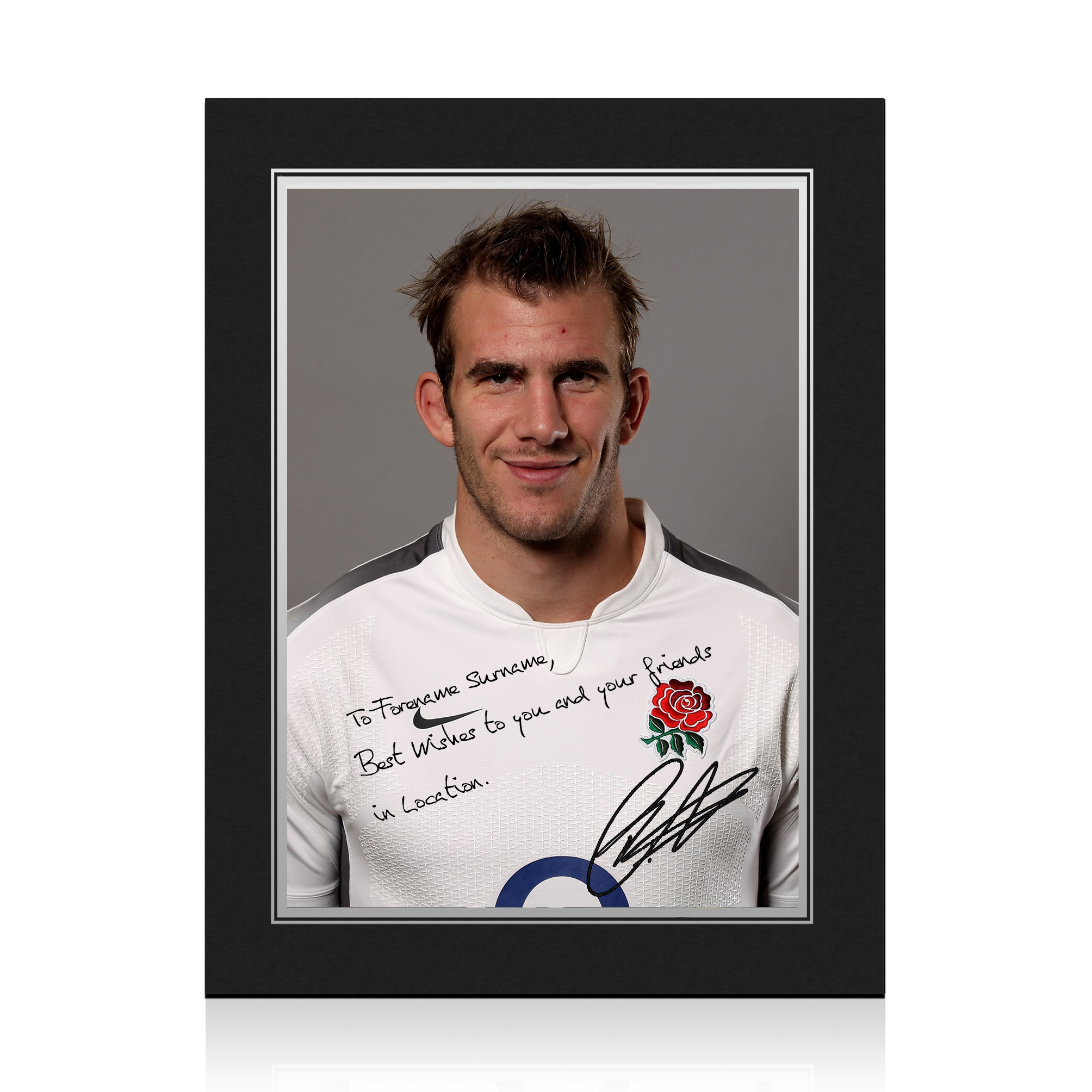England Rugby Personalised Signature Print in Presentation Folder - Croft