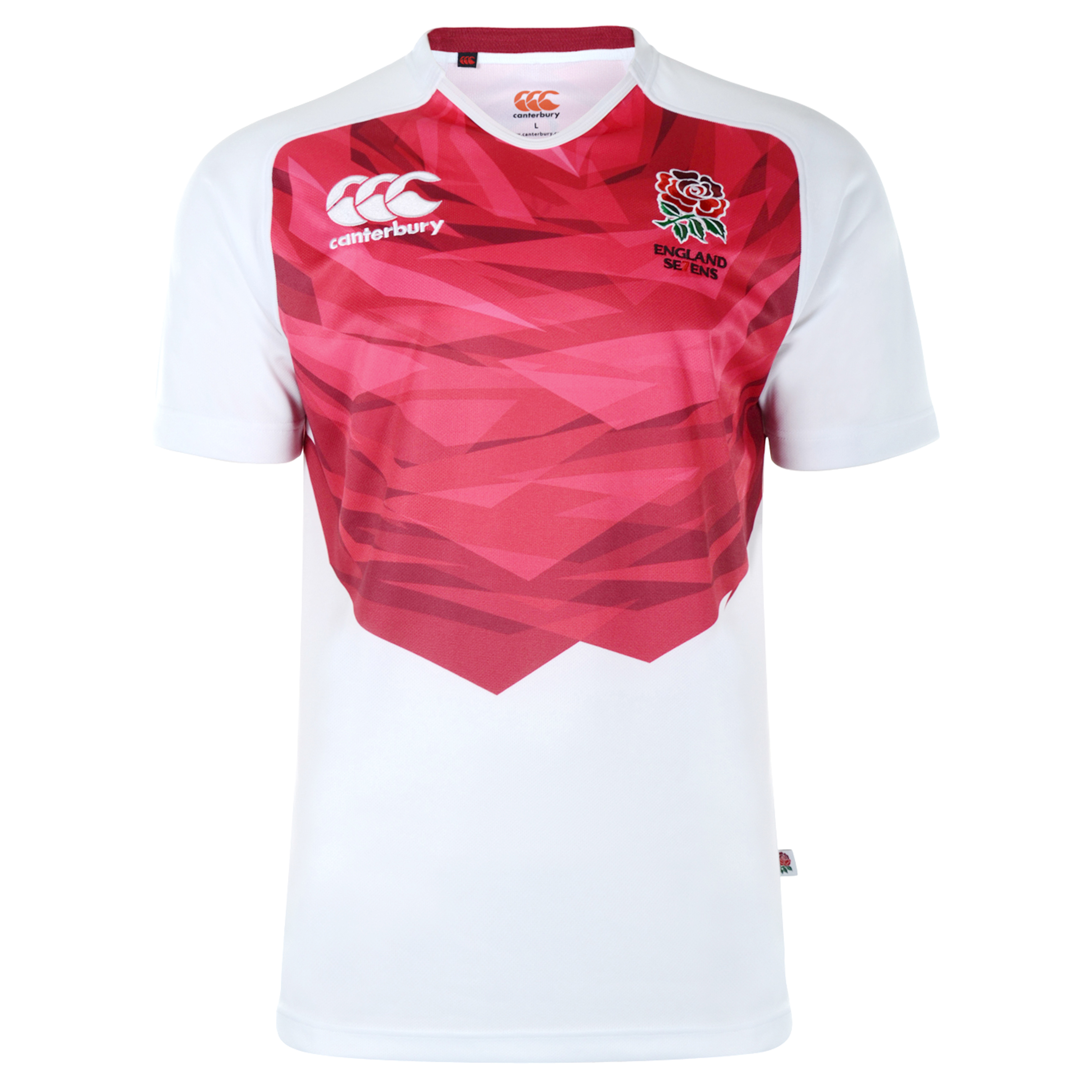 England Home Sevens Rugby Pro Shirt 2012/13 S/S