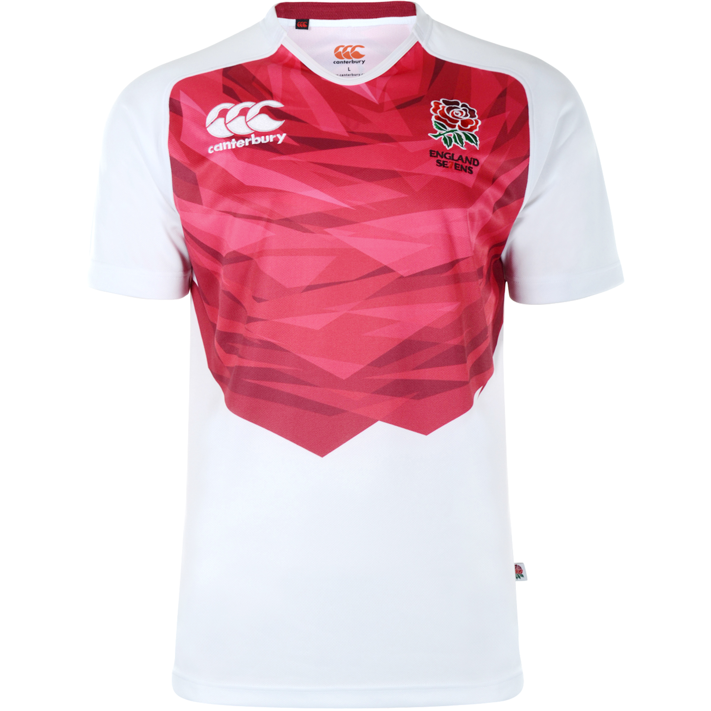 England Home 7inchS Rugby Pro Shirt 2012/13 S/S - Kids