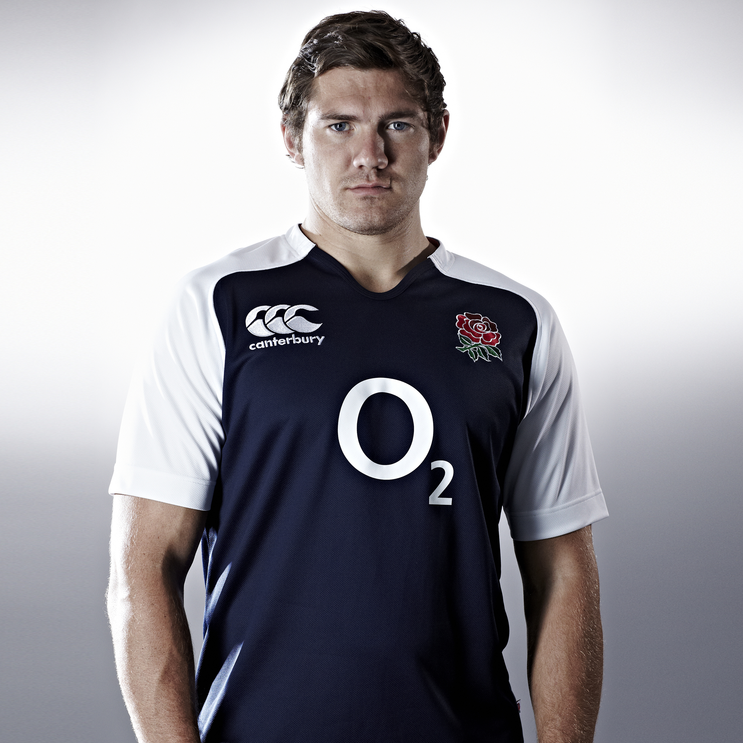 England Training Rugby Pro Top S/S - Navy / White