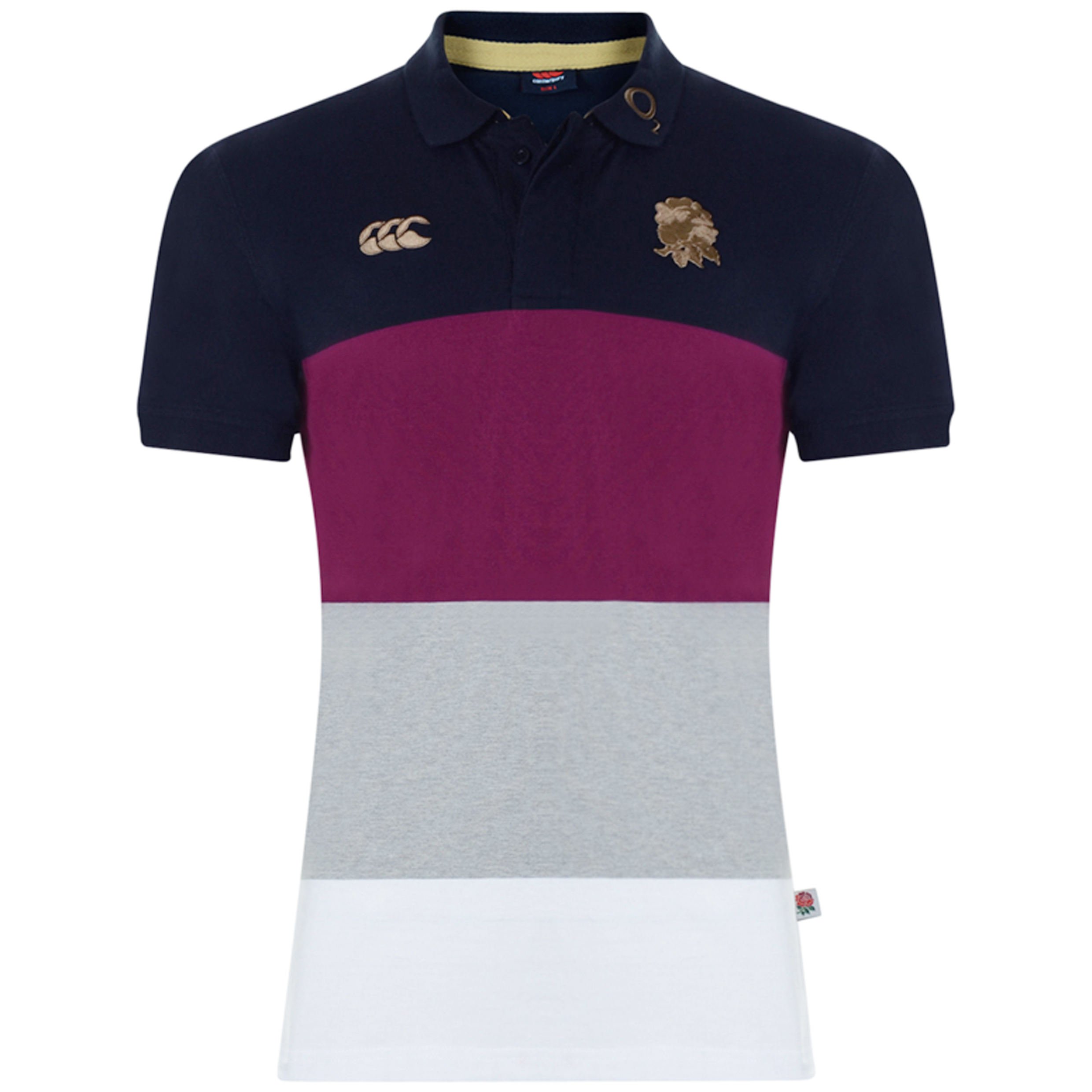 England Stripe Polo  - Black