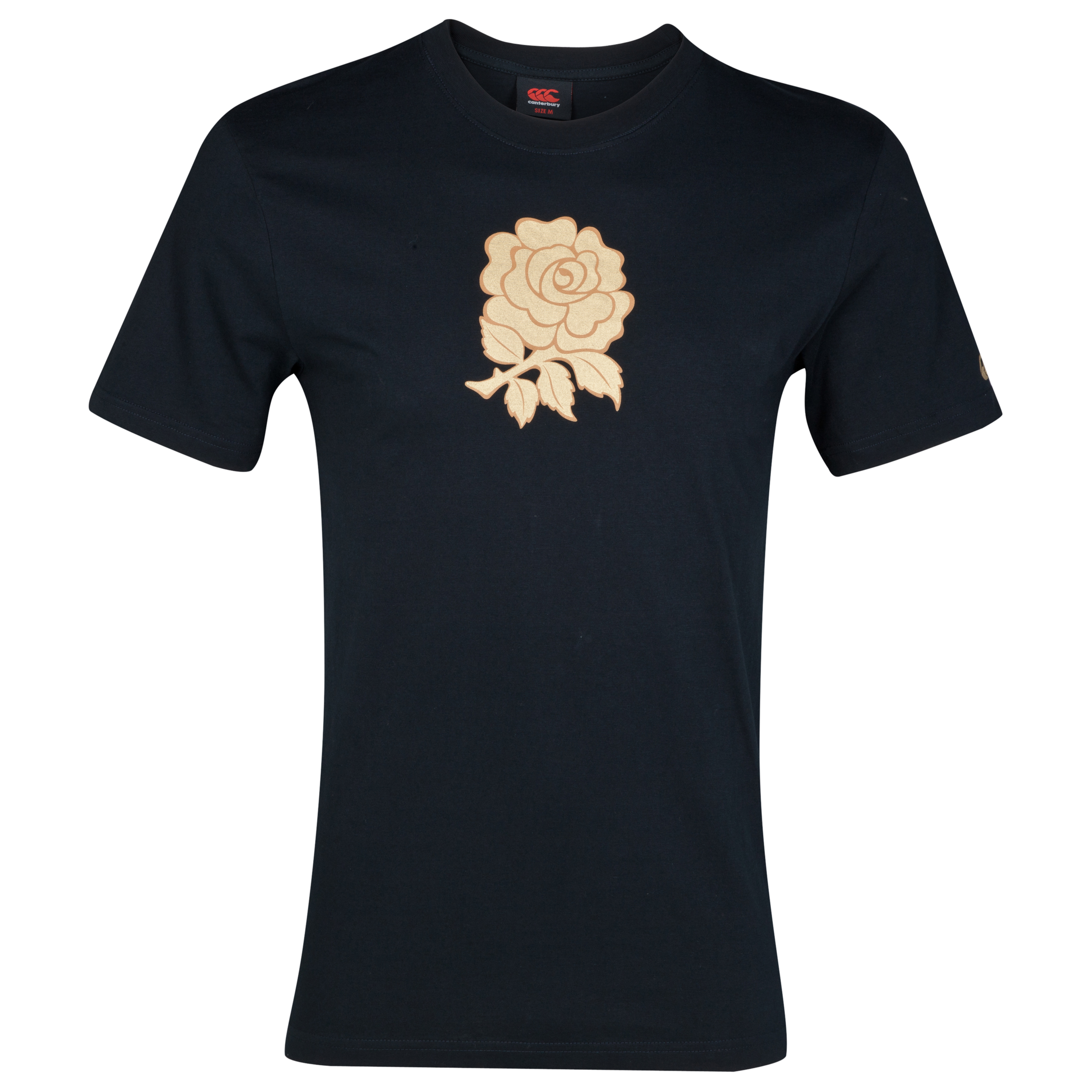 England Graphic Cotton T-Shirt - Black