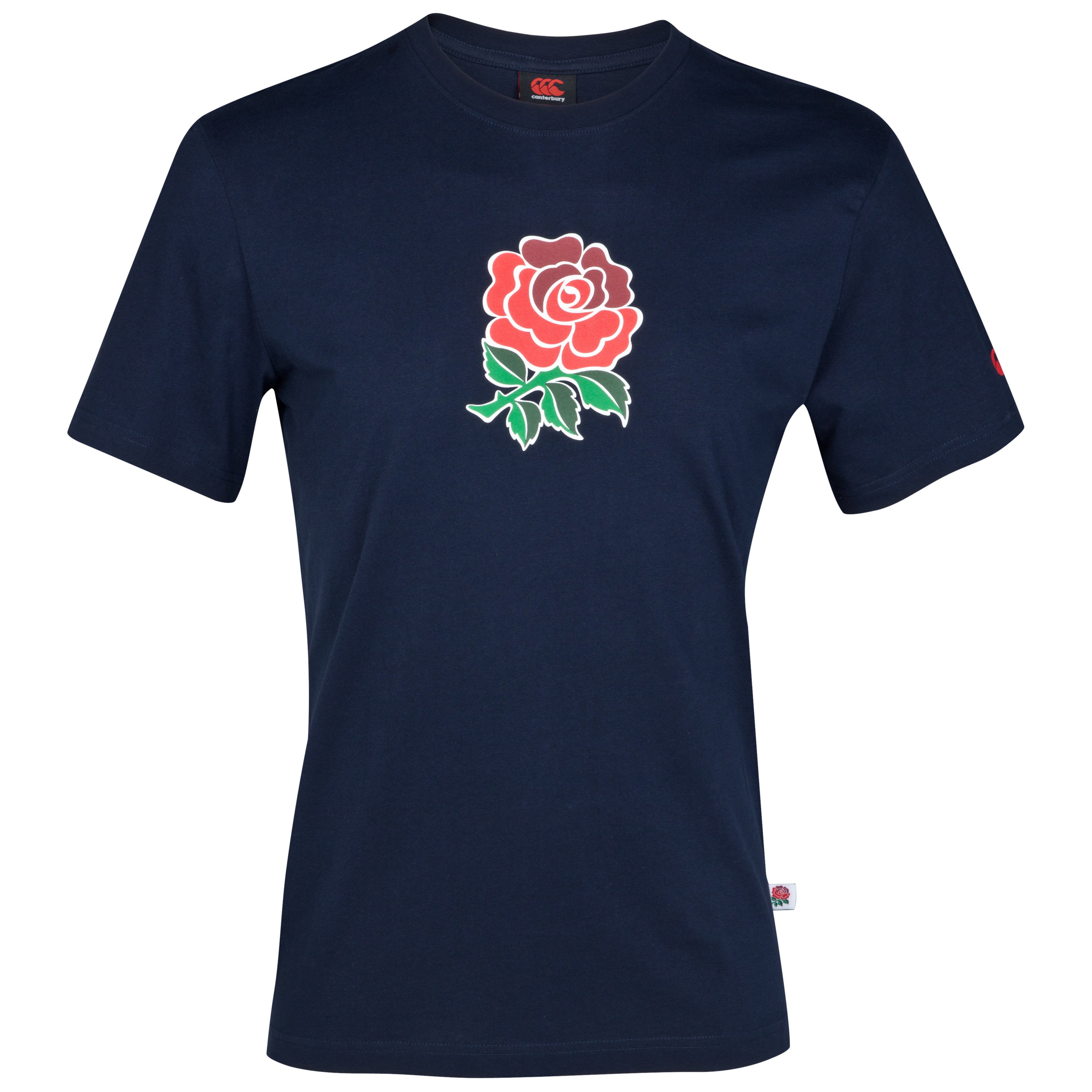 England Graphic Cotton T-Shirt - Youths - Navy