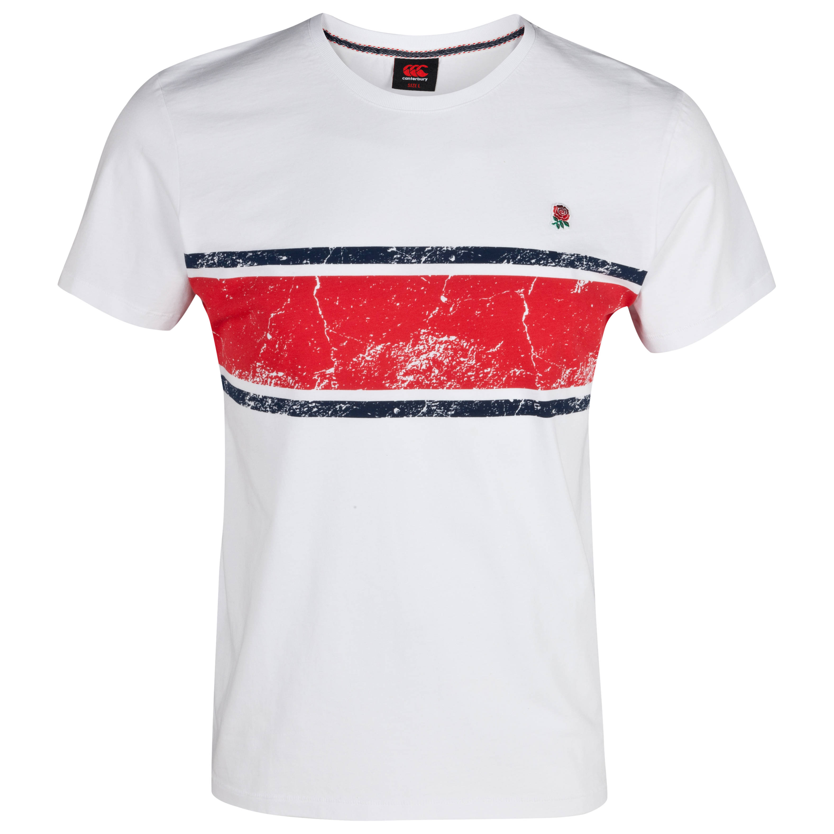 England Lifestyle Cut & Sew Cotton T-Shirt - Bright White