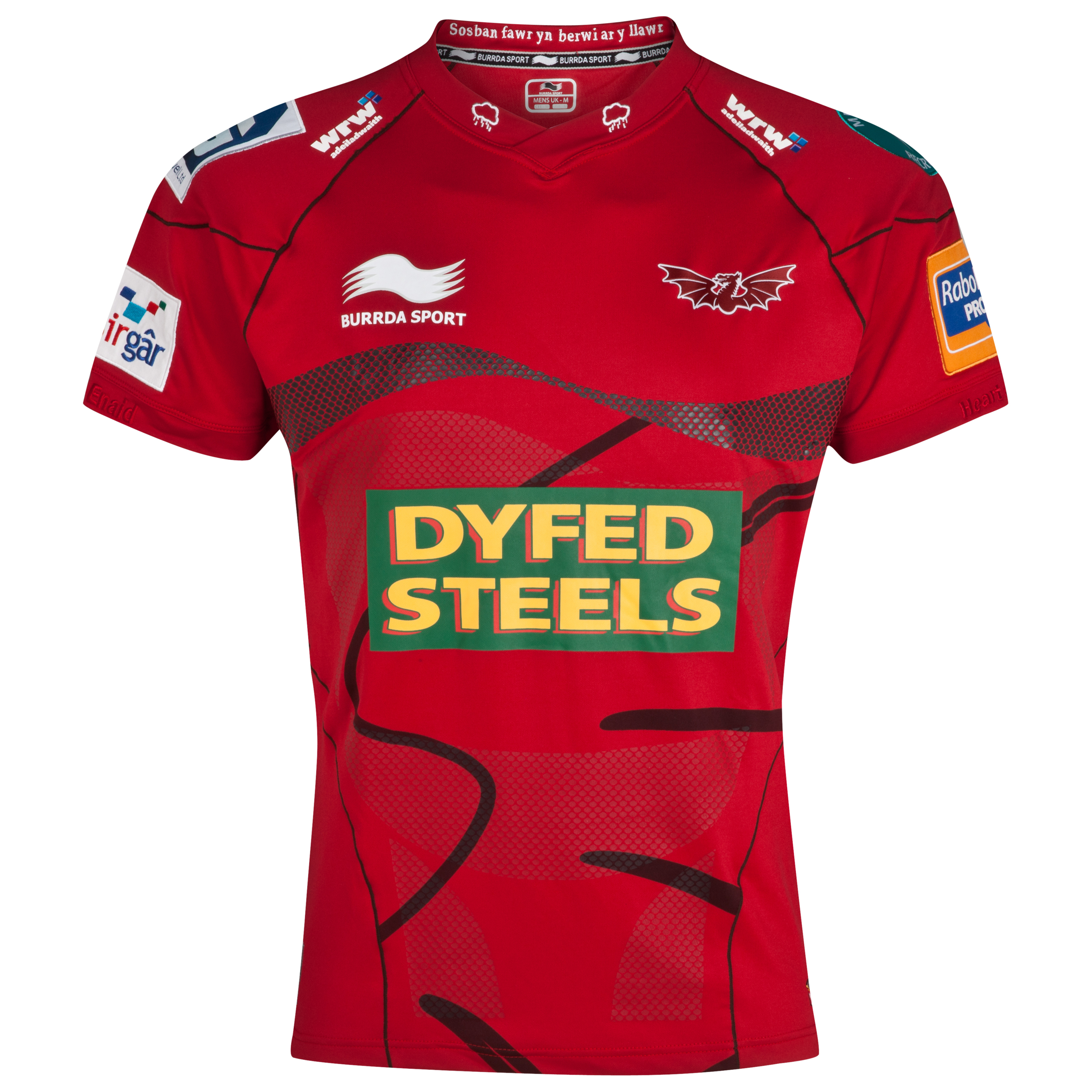 Llanelli Scarlets Home Match Day Rugby Shirt 2012/13