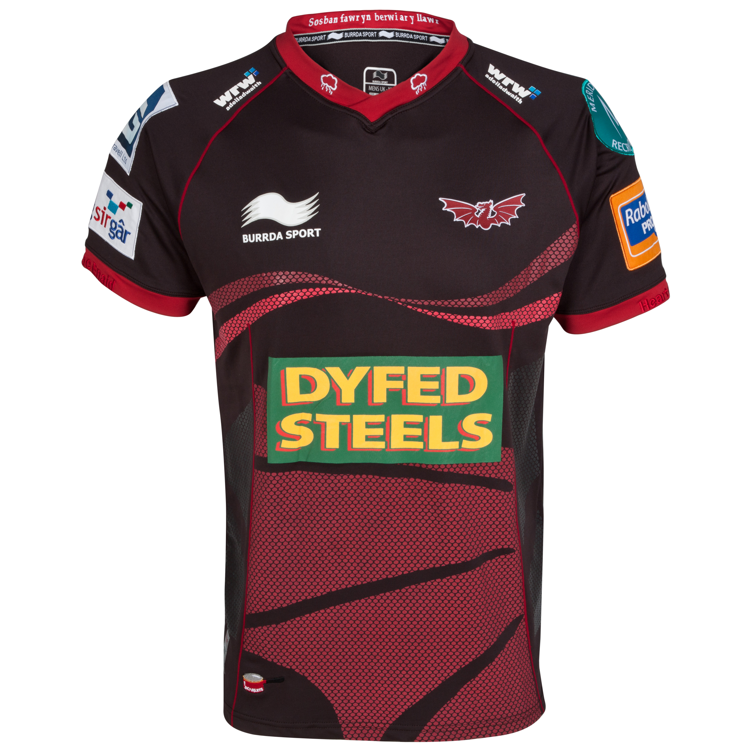 Llanelli Scarlets Away Match Day Rugby Shirt 2012/13