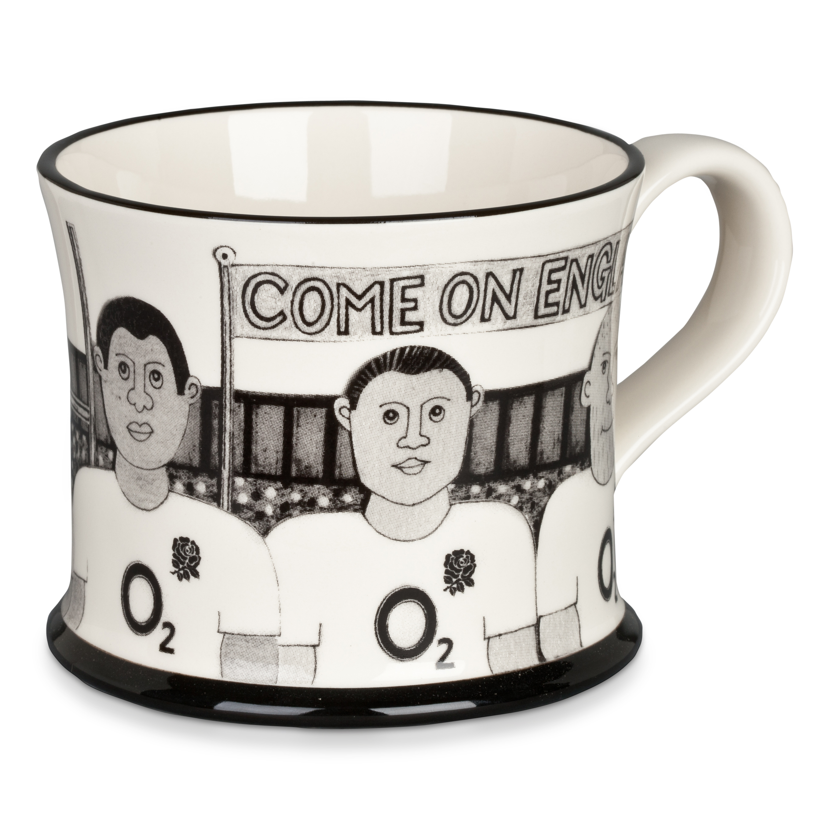 England Rugby Player Pottery Mug