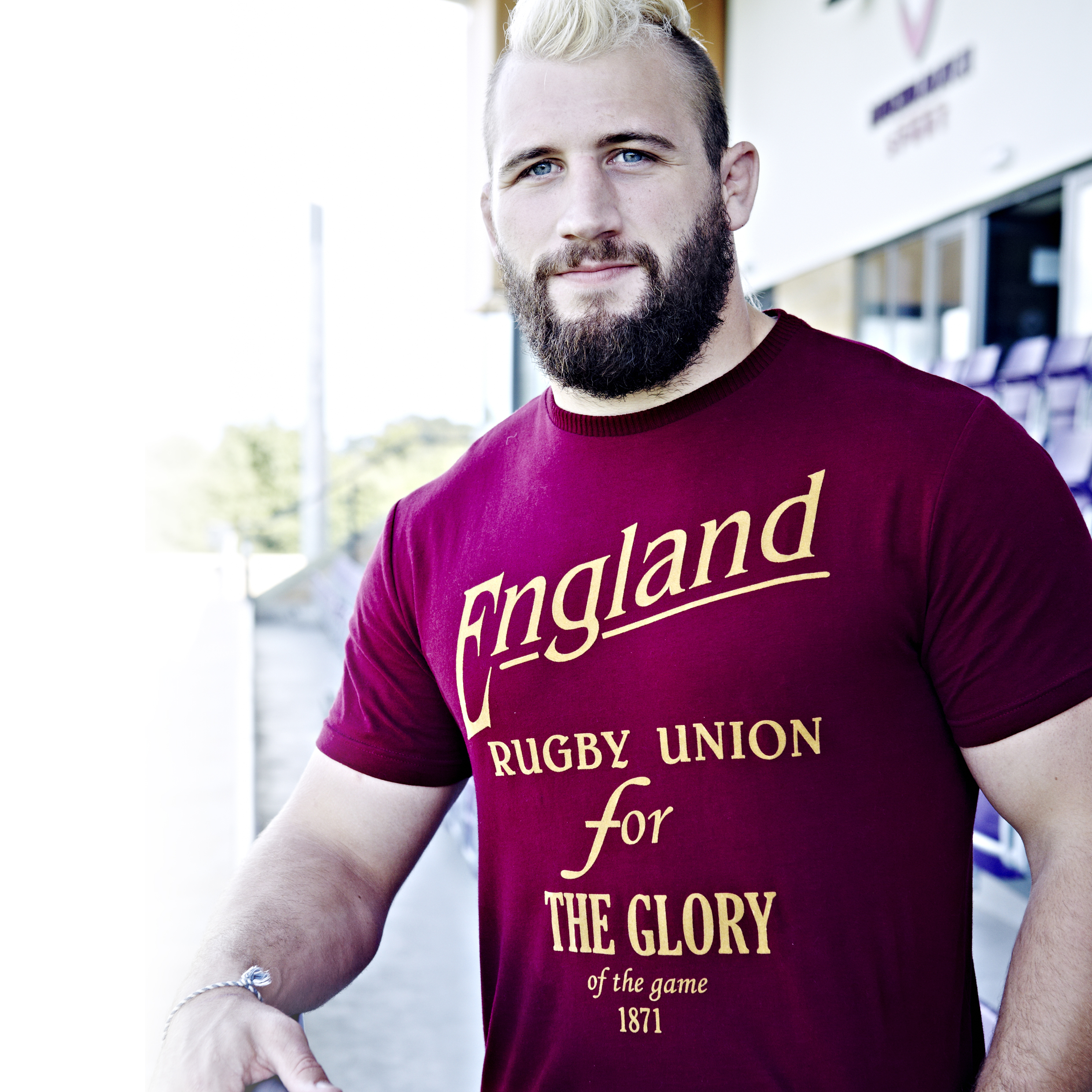 England Rugby Authentic Collection Glory T-Shirt - Claret