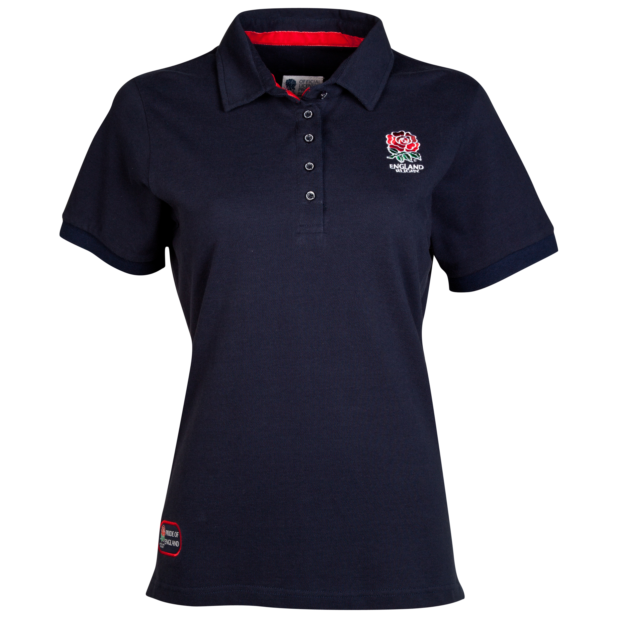 England Rugby Classic Collection Rose Polo - Navy - Womens