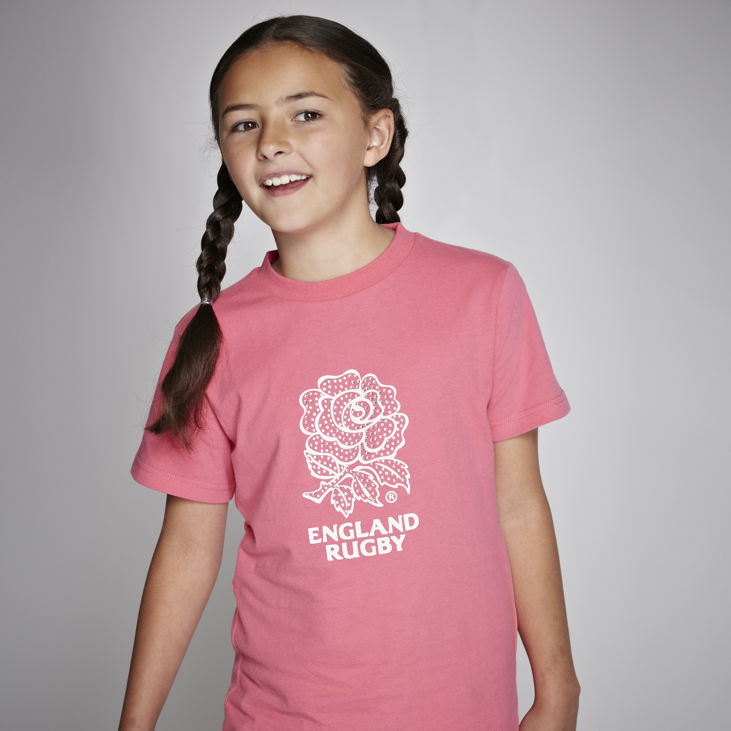 England Rugby Classic Collection T-Shirt - Pink - Older Girls