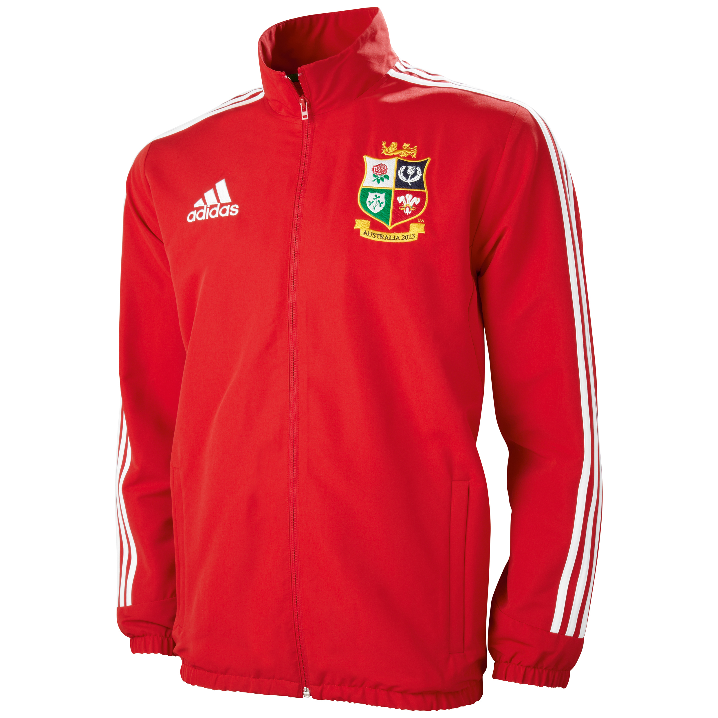 adidas British and Irish Lions Anthem Jacket - University Red/White