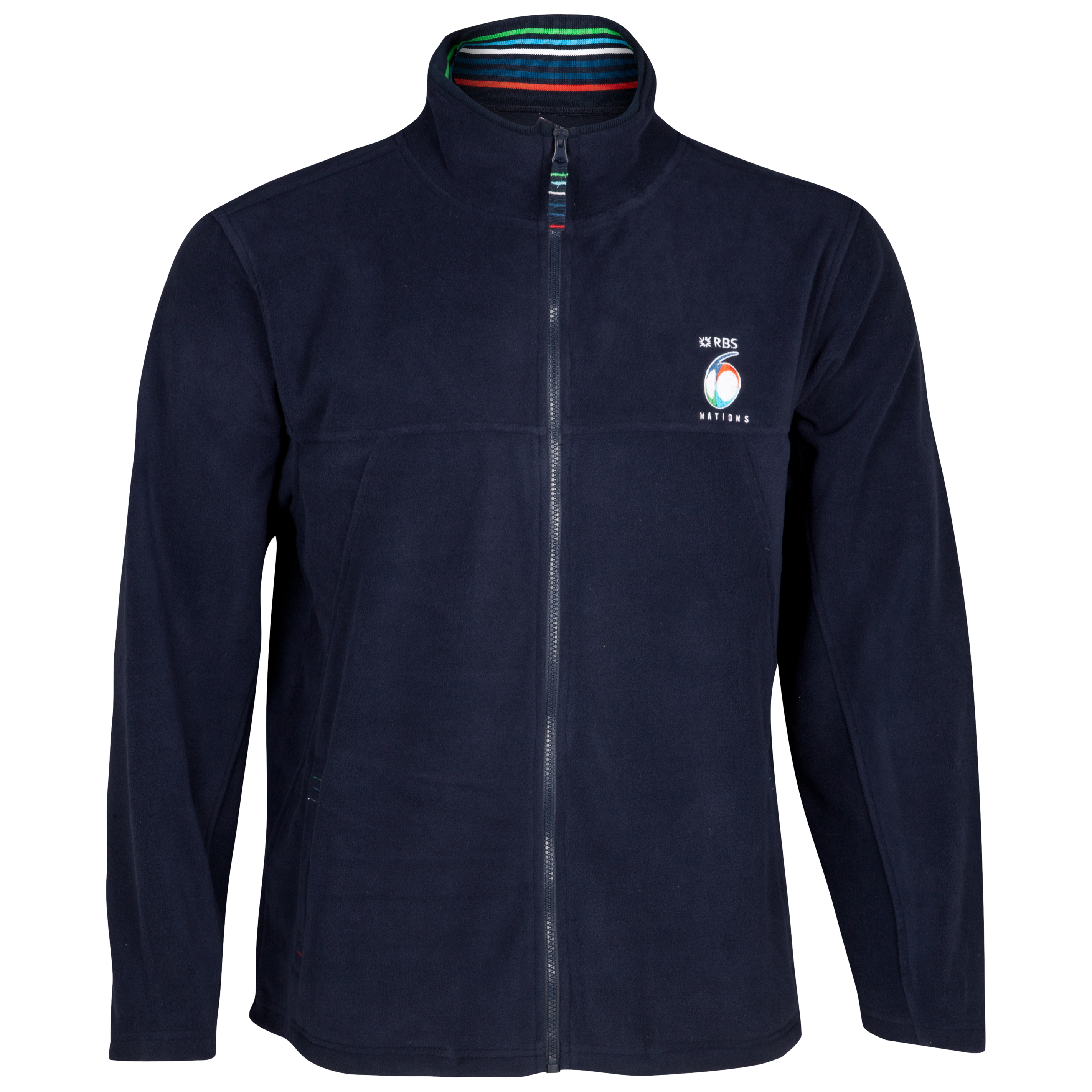 RBS 6 Nations Zip Through Micro Fleece - Navy