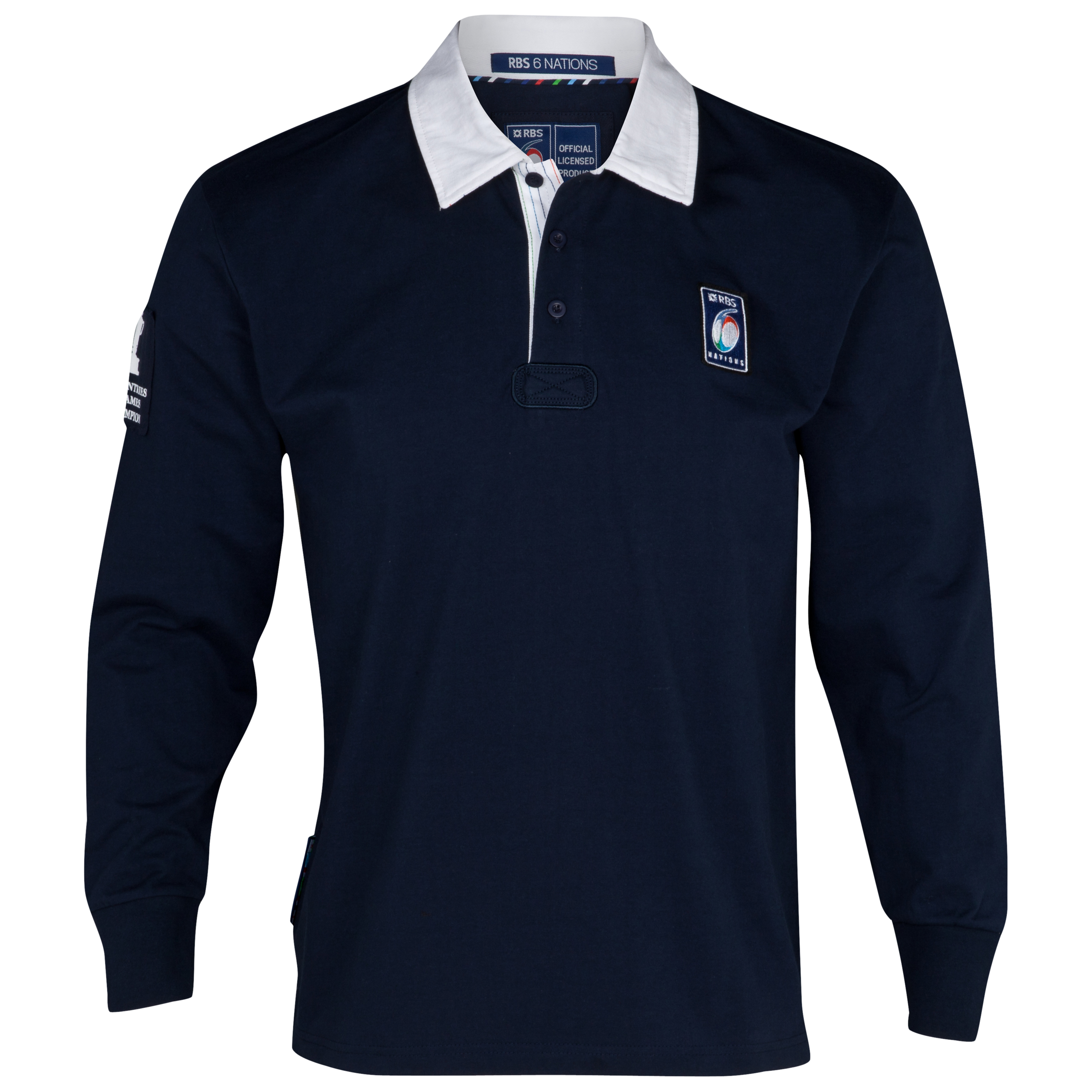RBS 6 Nations Long Sleeved Classic Rugby Shirt - Navy