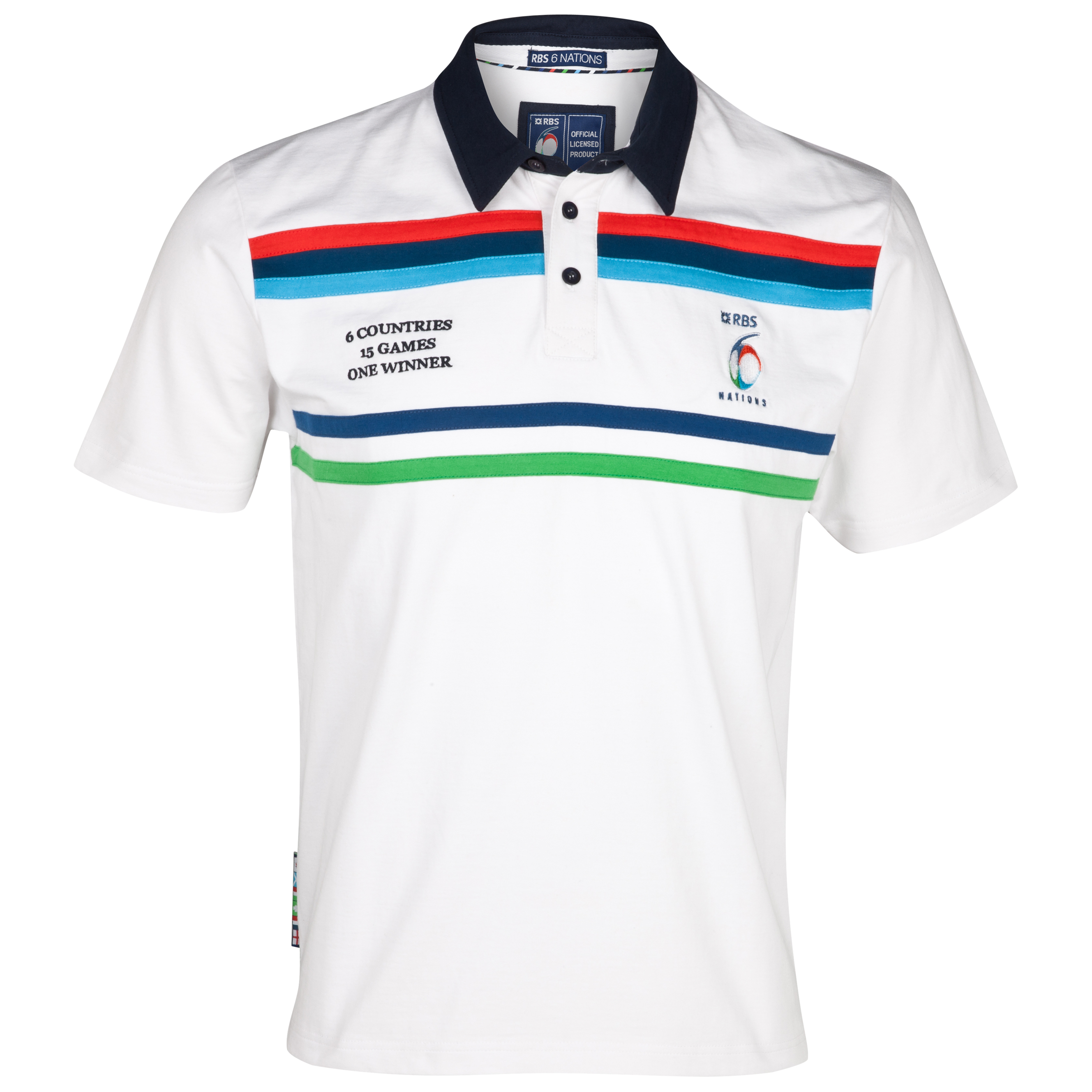 RBS 6 Nations Harlequin Short Sleeve Rugby Shirt