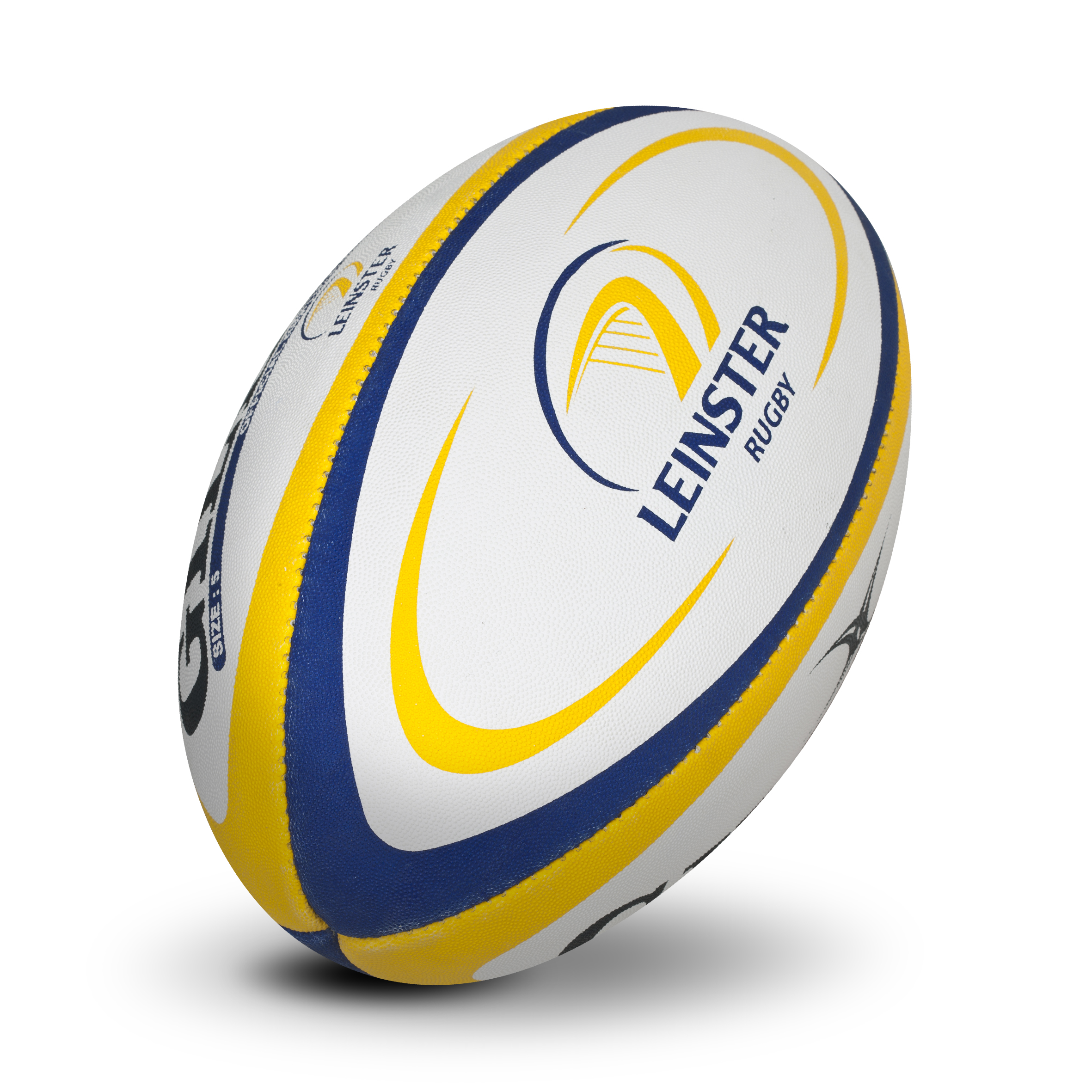 Gilbert Replica Rugby Ball - Size 5 - White/Yellow/Blue