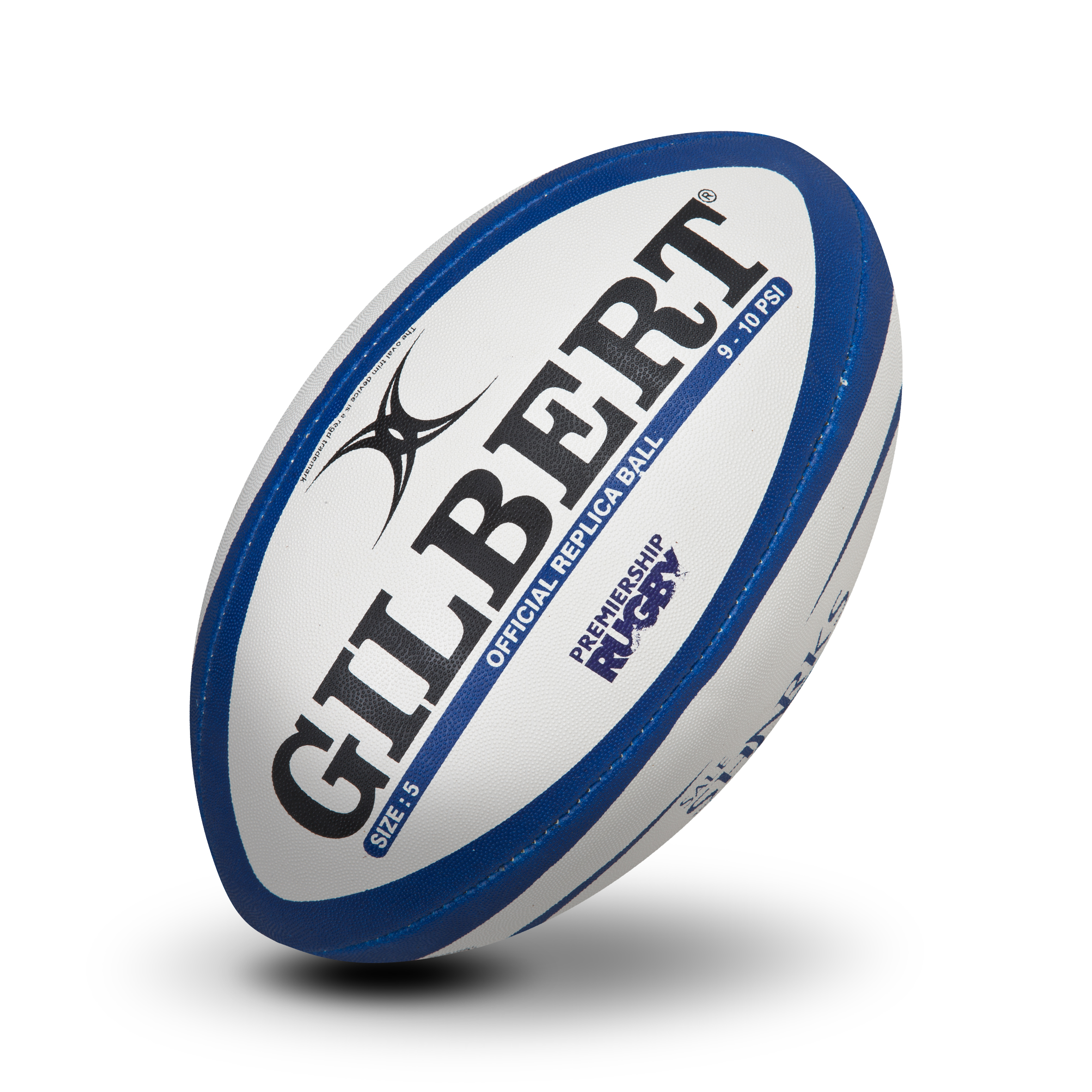 Gilbert Sale Sharks Replica Rugby Ball - Size 5 - White/Blue