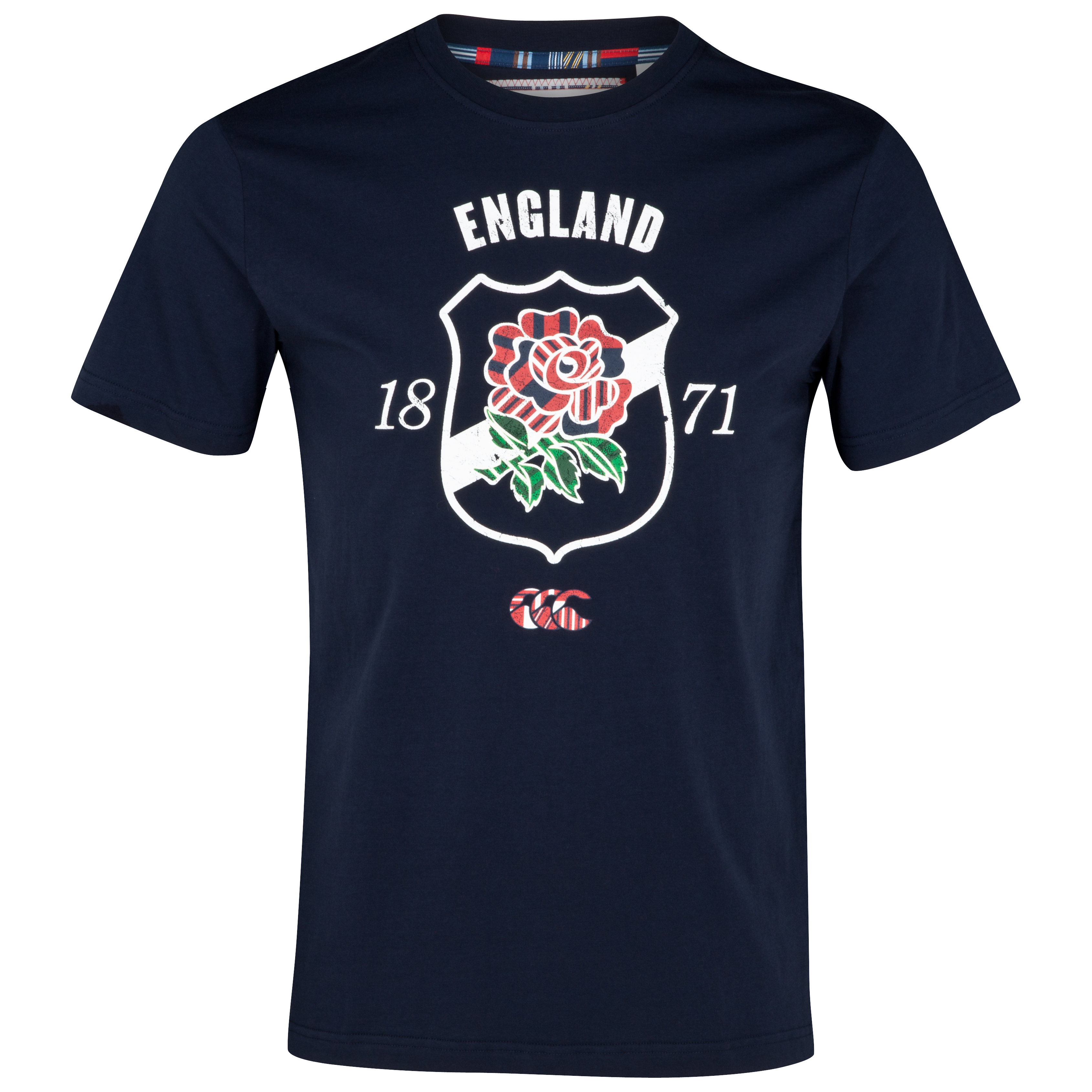 England Uglies Cotton Shield T-Shirt - Navy