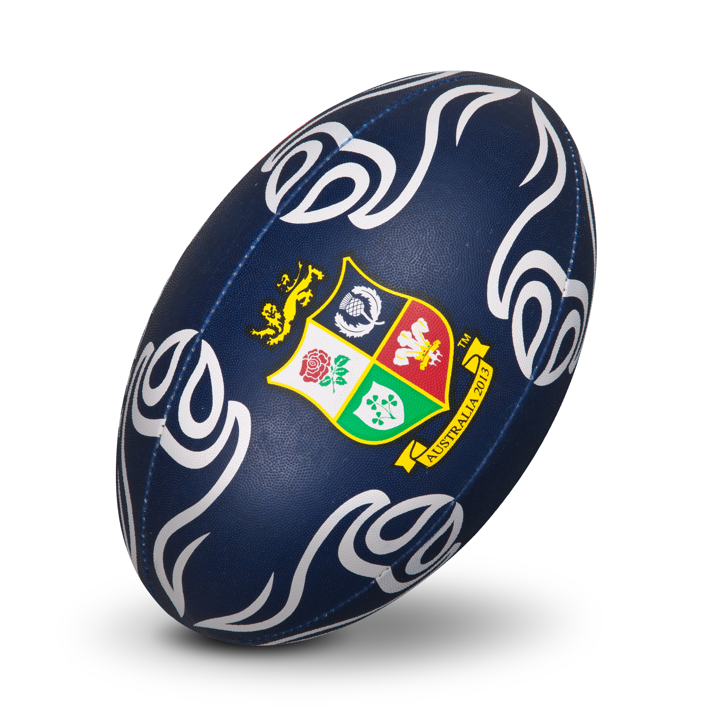 British and Irish Lions Supporters Rugby Ball - Blue/White
