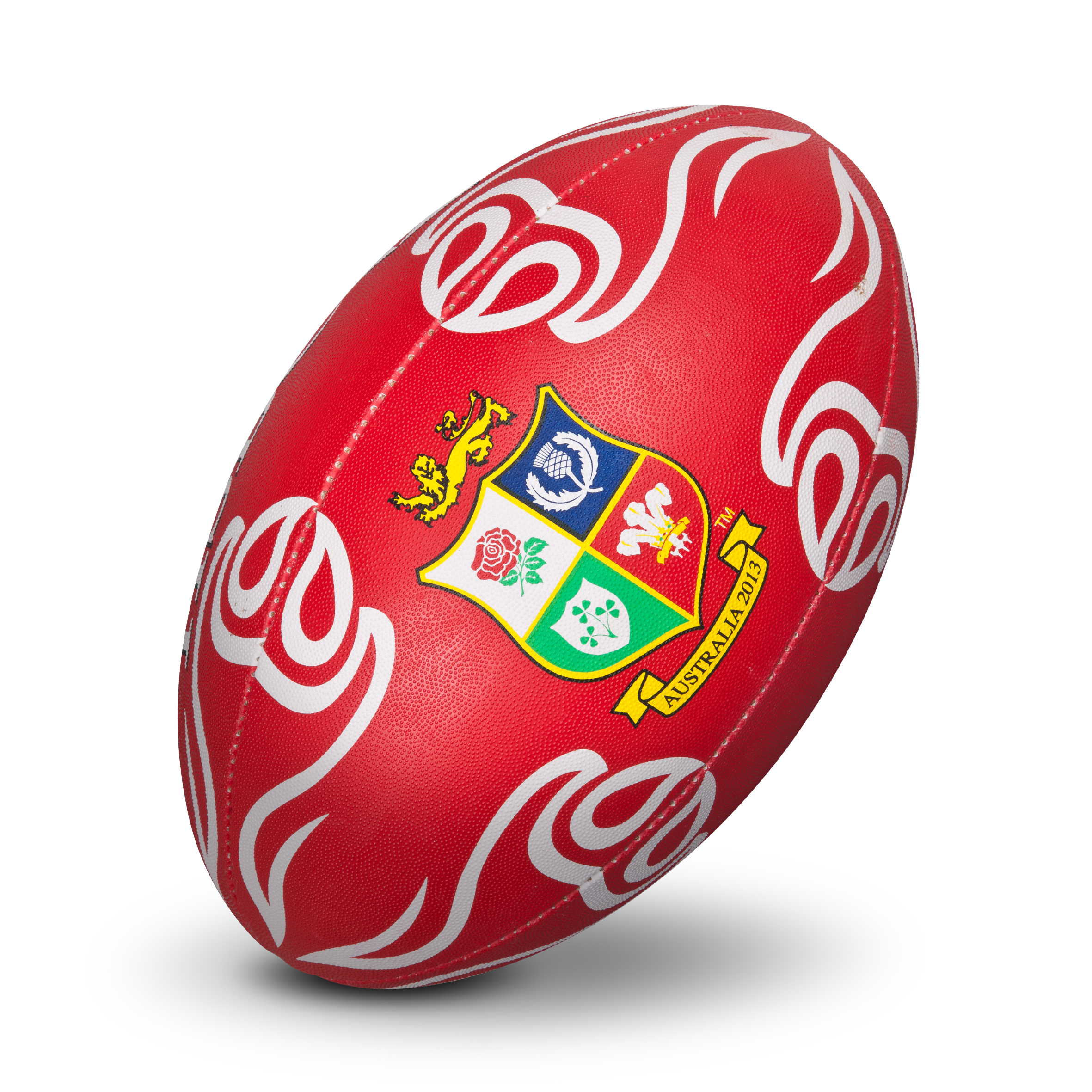 British and Irish Lions Supporters Rugby Ball - Red/White