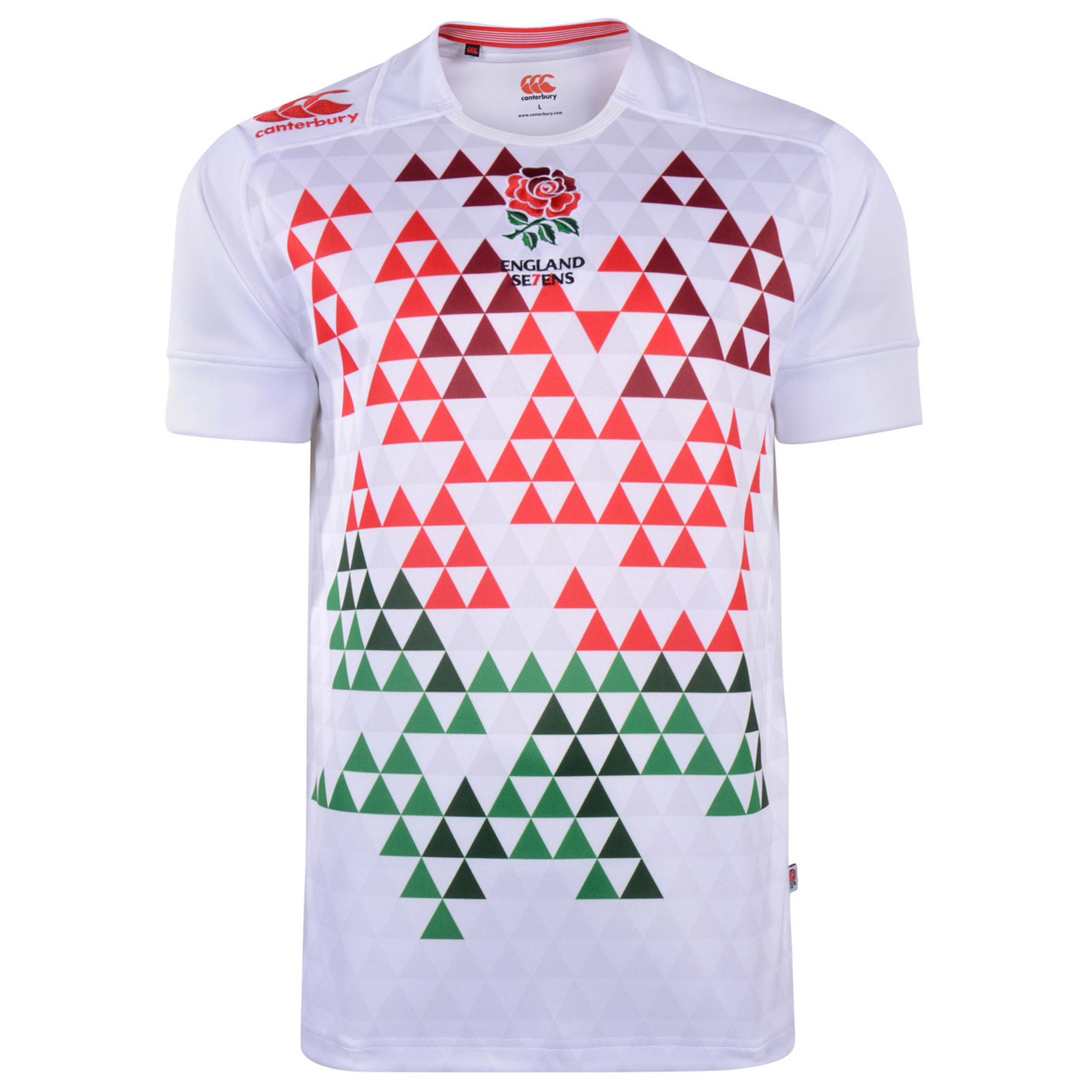 England Home Sevens Rugby Pro Shirt 2013-Bright White-Kids