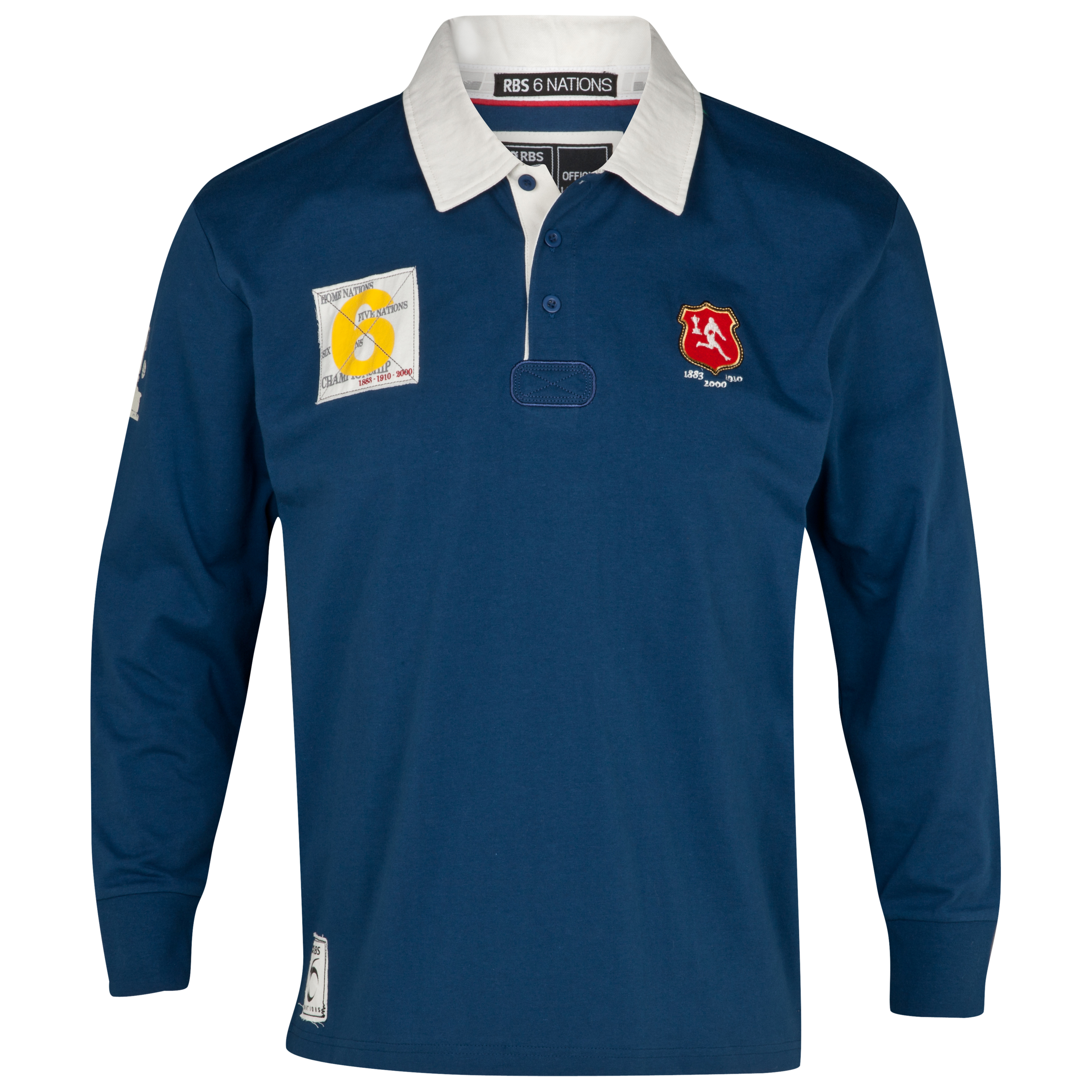 RBS 6 Nations Heritage Long Sleeved Rugby Shirt - Blue
