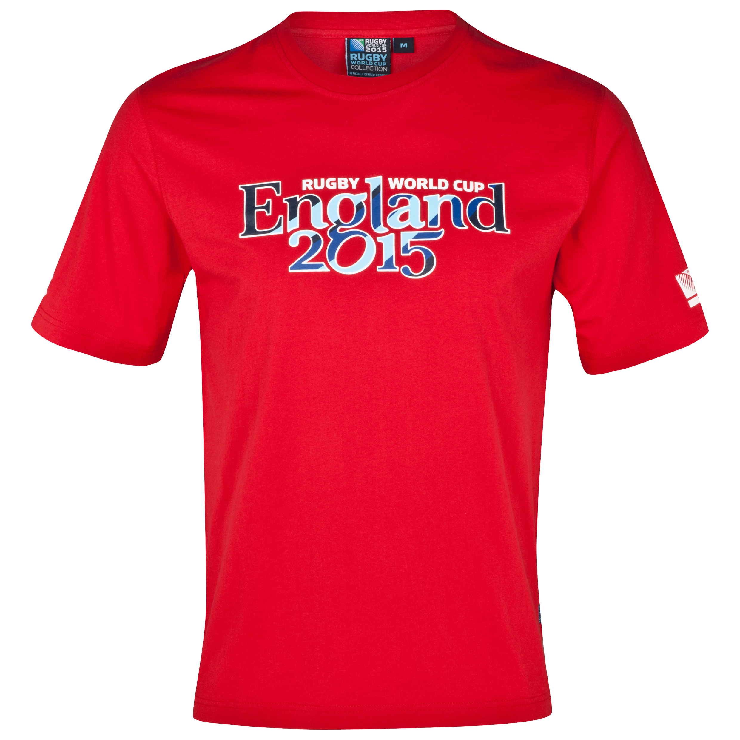 England Rugby World Cup 2015 Script T-Shirt - Red