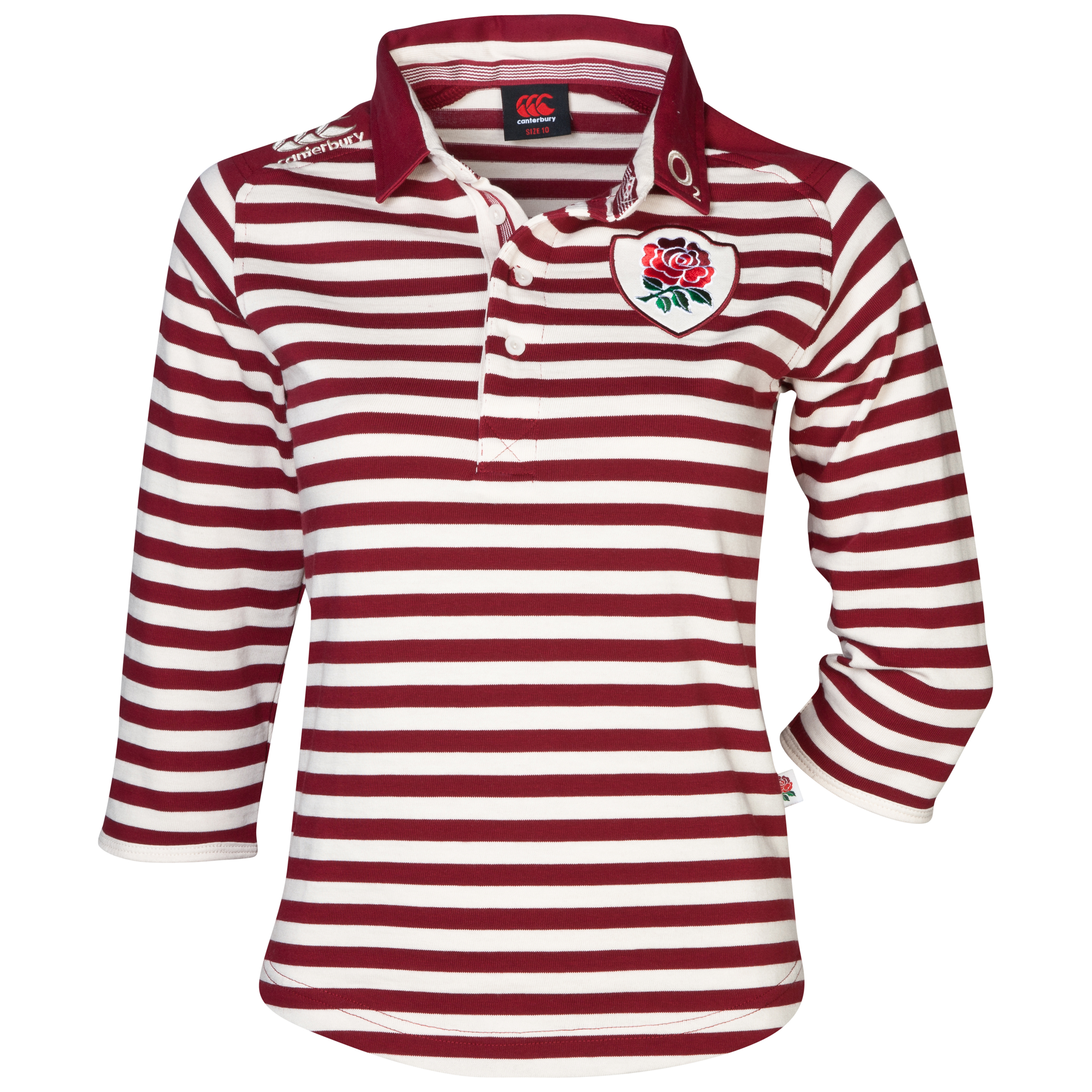 England Alternate Rugby Classic 3/4 Sleeve Shirt 2013/14 - Womens