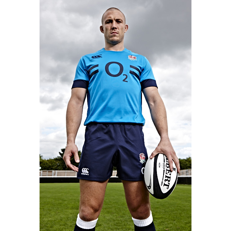 England Rugby Pro Training Top - Vivid Blue