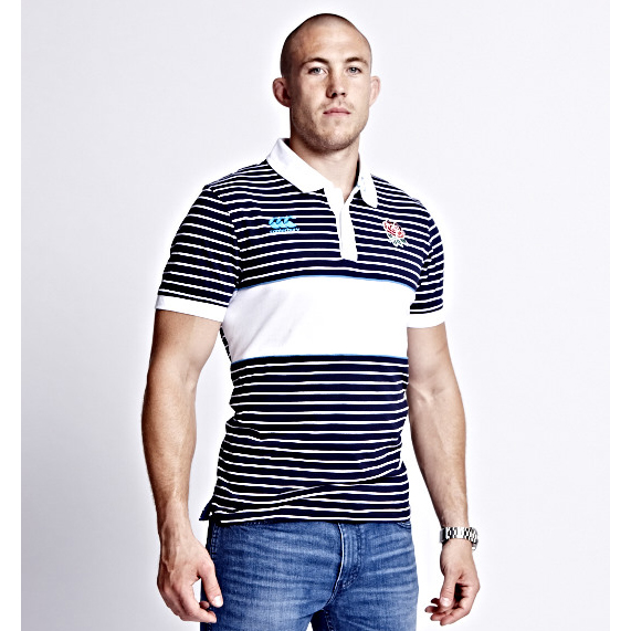 England Stripe Polo - Peacoat Navy