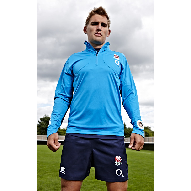 England 1/4 Zip First Layer Training Top - Vivid Blue Navy