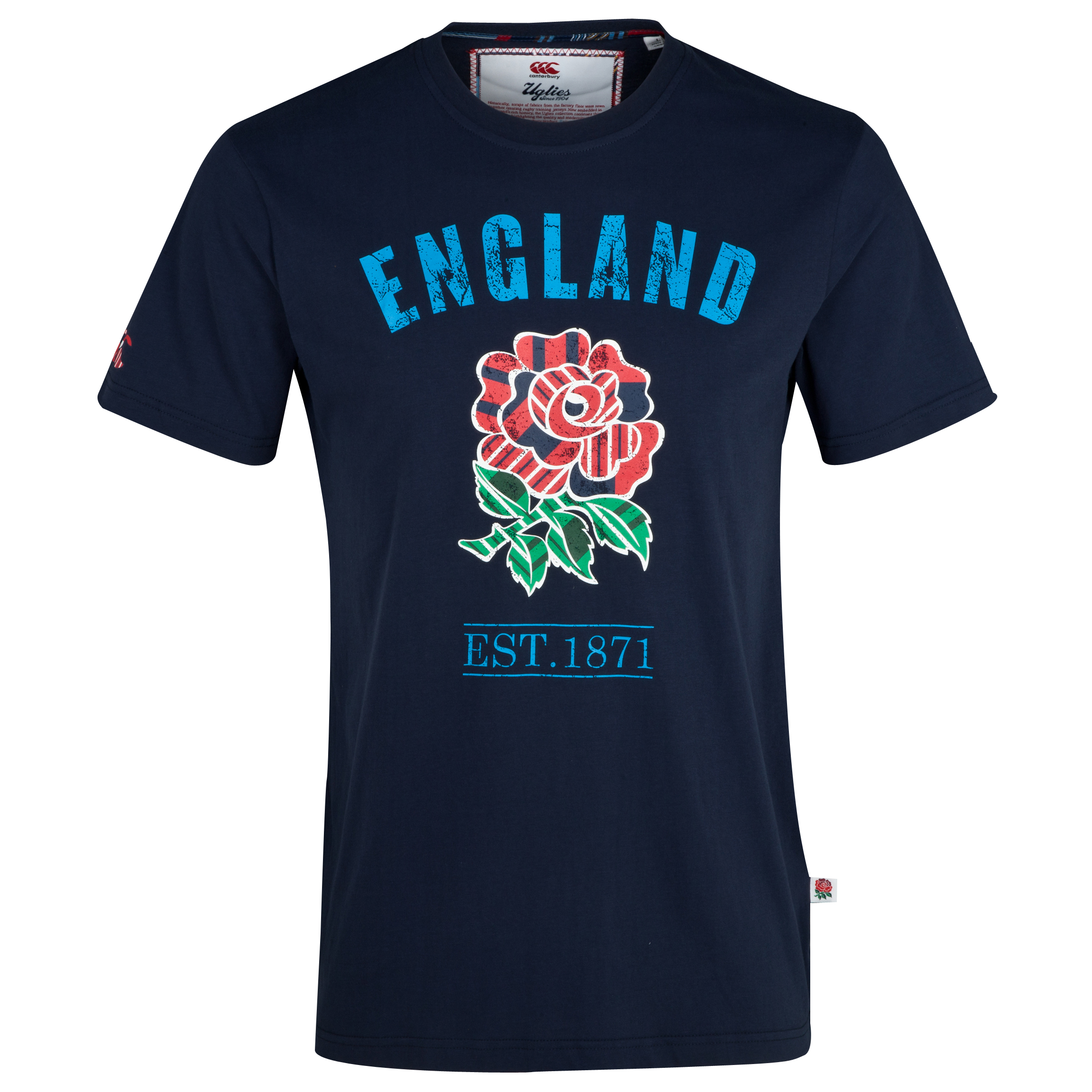 England Uglies Cotton T-Shirt - Navy Navy
