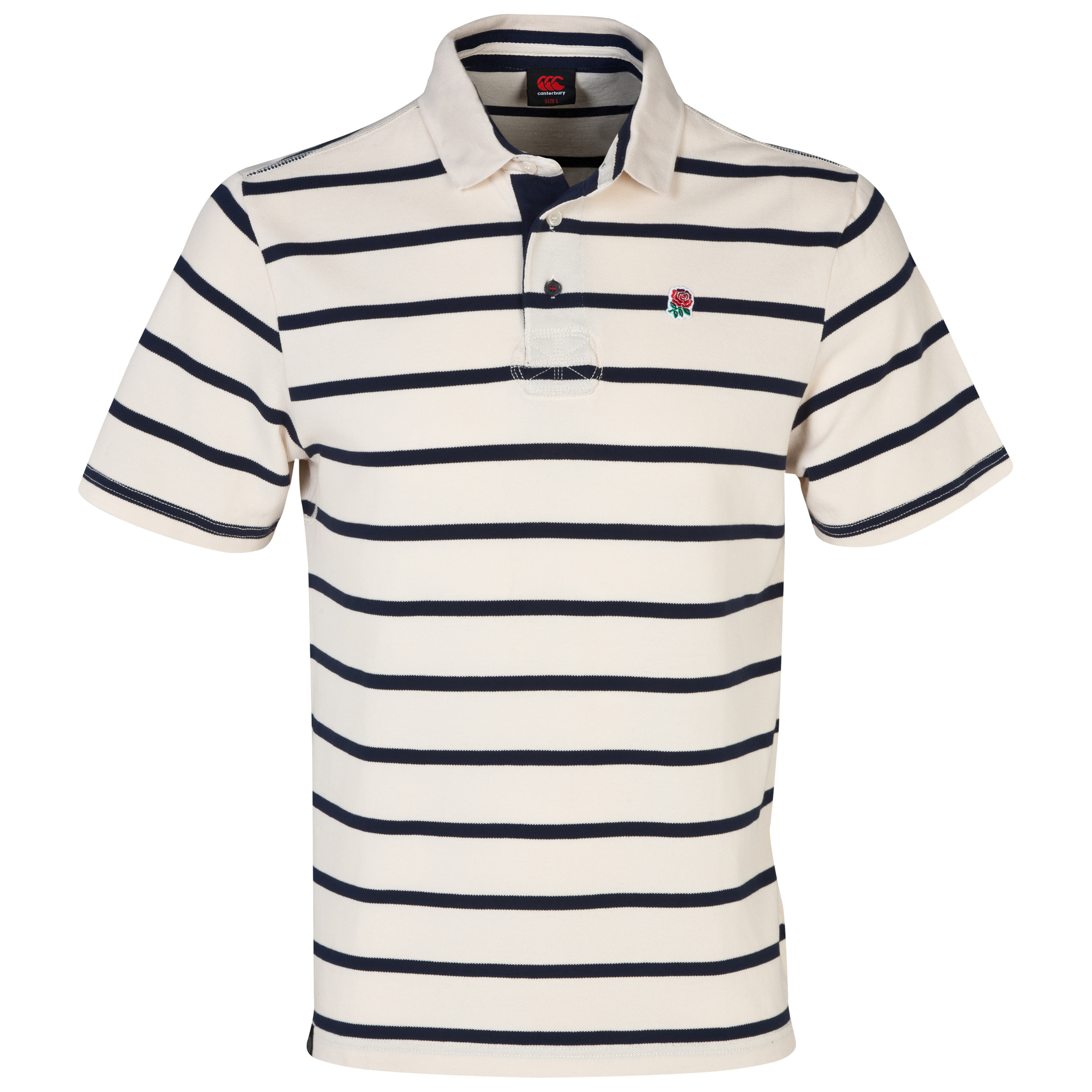 England Lifestyle Striped Polo - Standard Ecru Cream