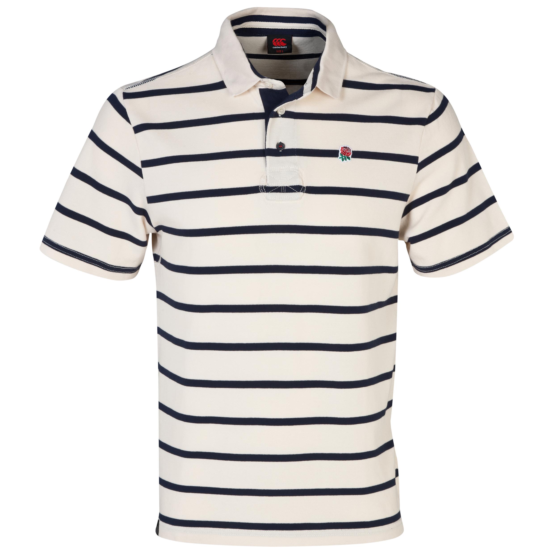 England Lifestyle Striped Polo - Standard Ecru Cream