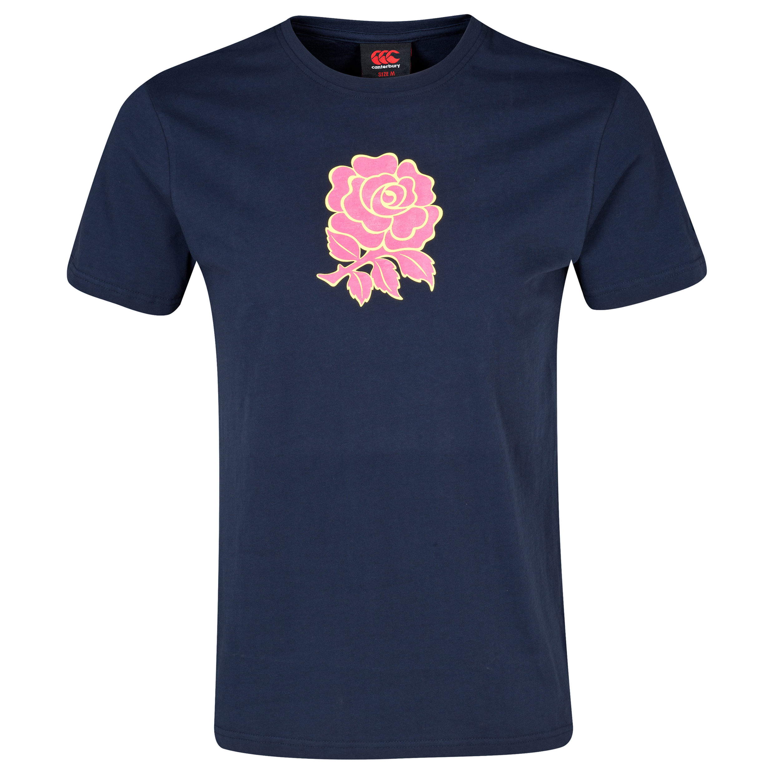 England Uglies Rose Graphic Cotton T-Shirt Navy