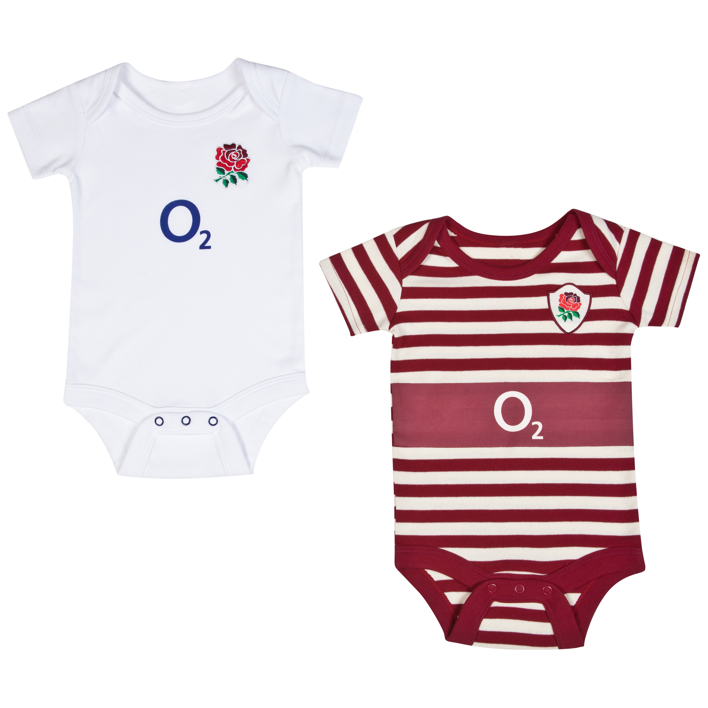 England Rugby Kit 2 Pack Bodysuits 2013/14 Multi