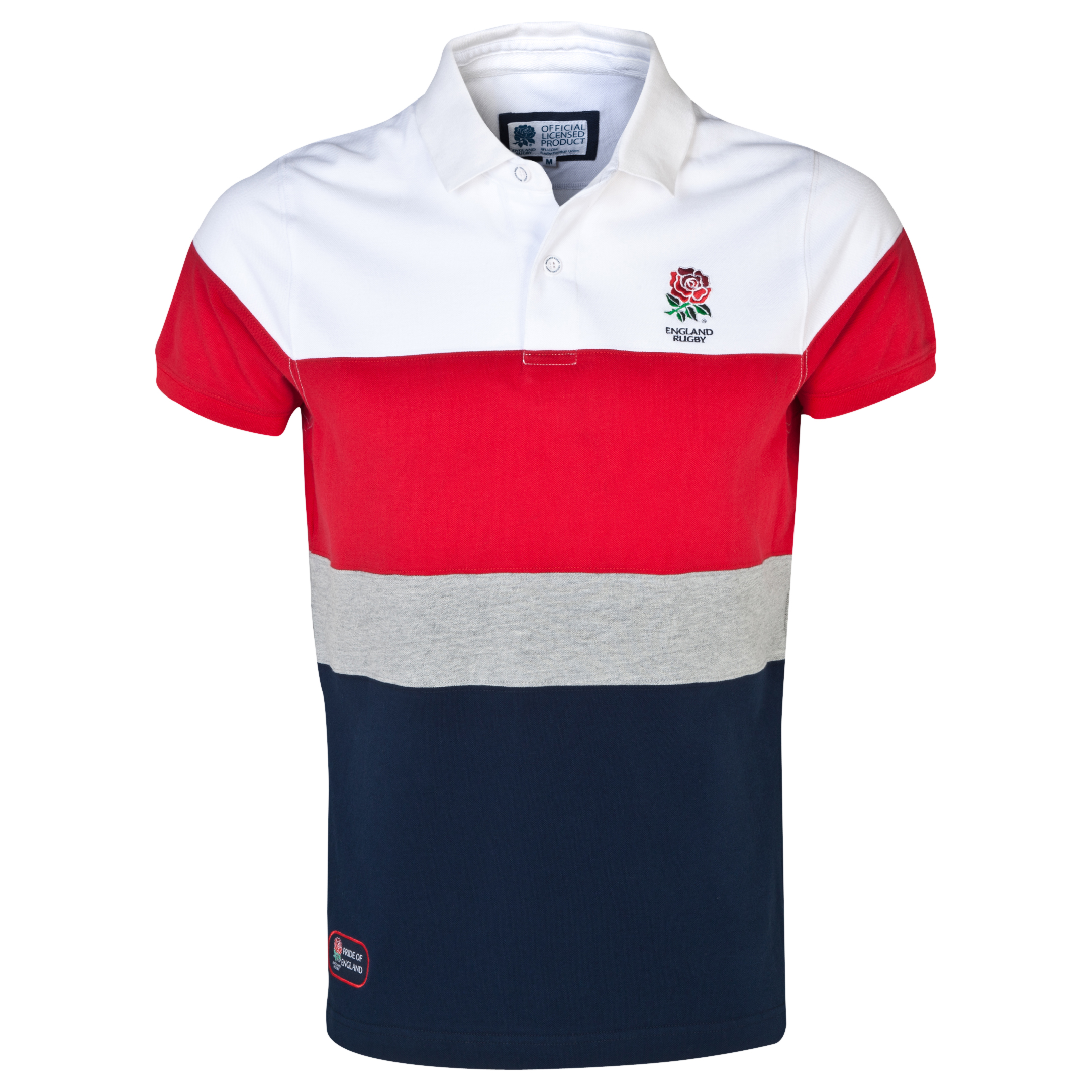 England Rugby Classics Collection Cut and Sew Polo Multi