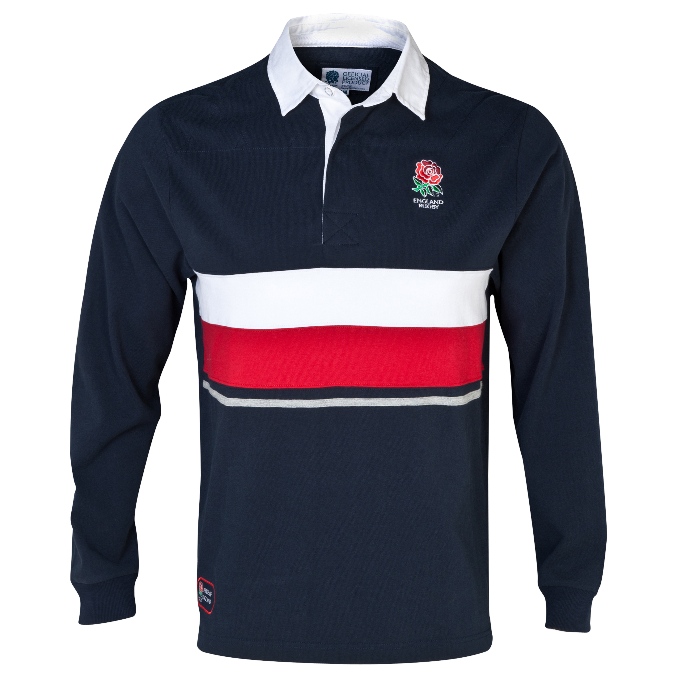 England Rugby Classics Collection Long Sleeved Rugby Shirt Navy